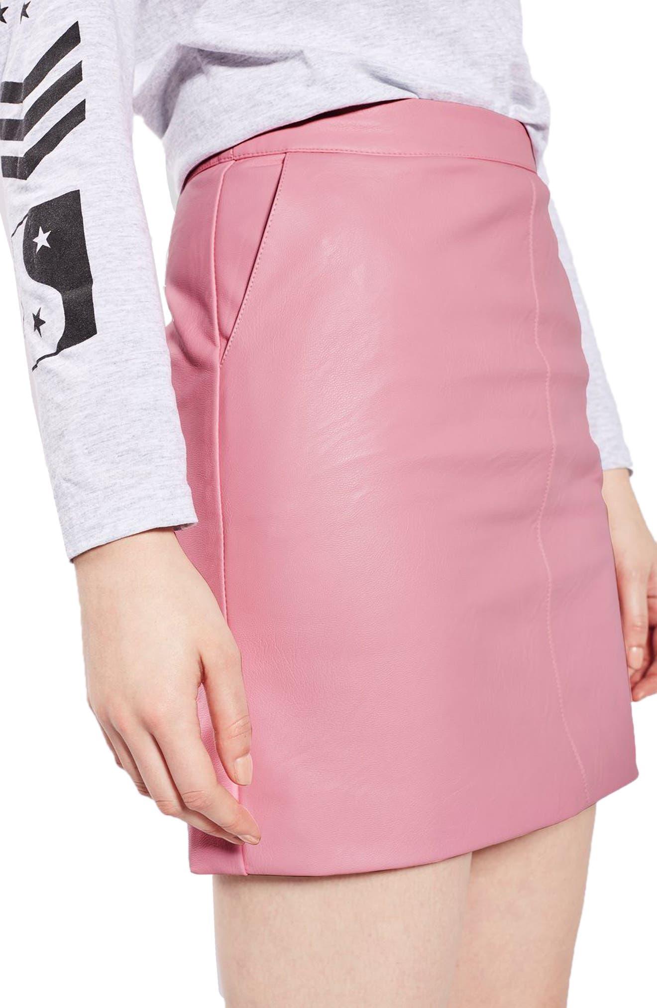 Faux Leather Pencil Skirt,                             Alternate thumbnail 12, color,