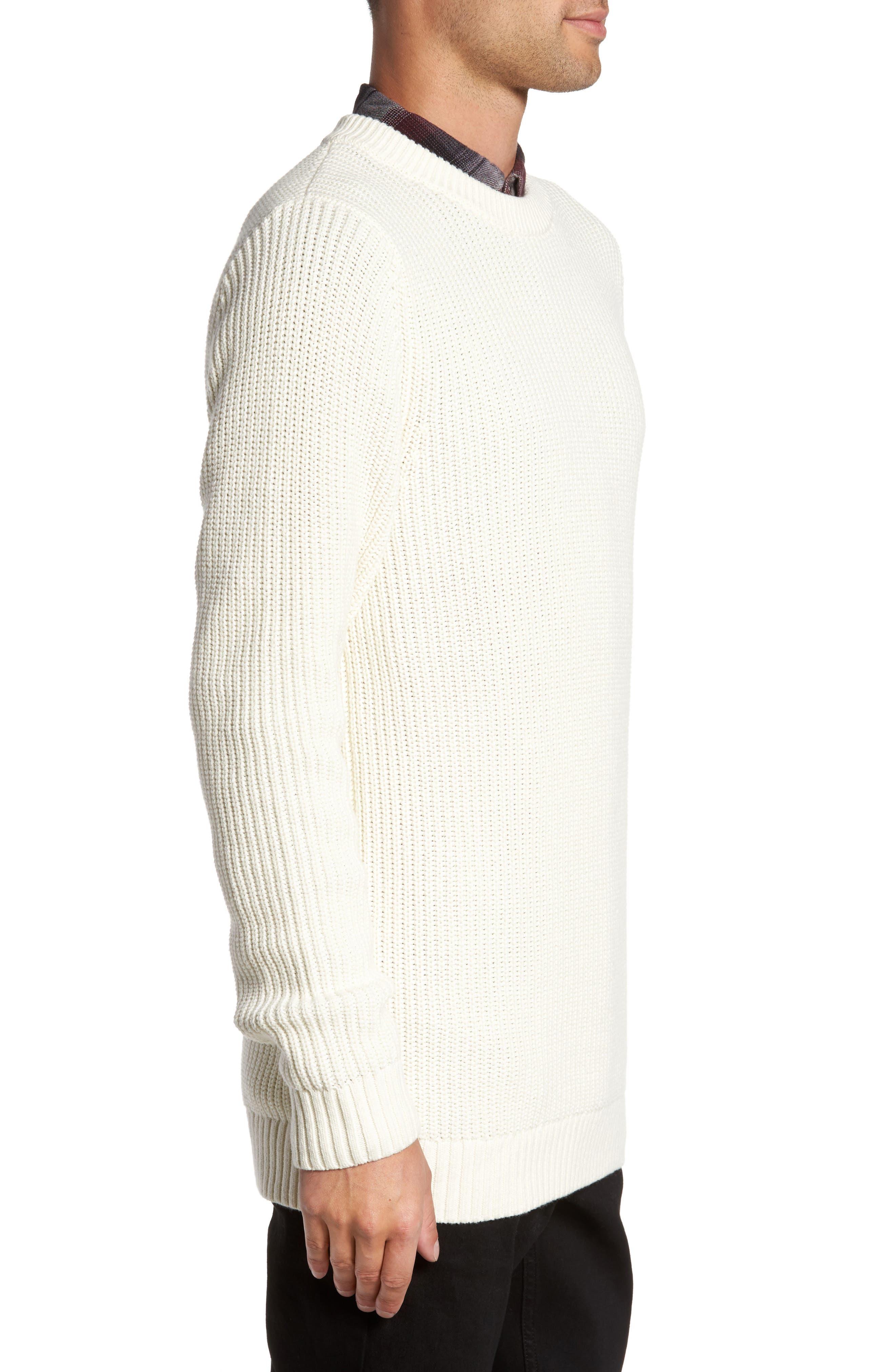 Shaker Stitch Sweater,                             Alternate thumbnail 6, color,