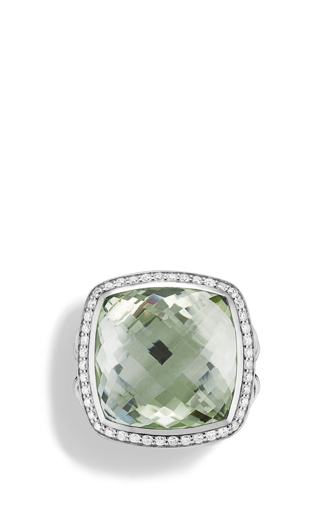 DAVID YURMAN,                             'Albion' Ring with Diamonds,                             Alternate thumbnail 3, color,                             PRASIOLITE