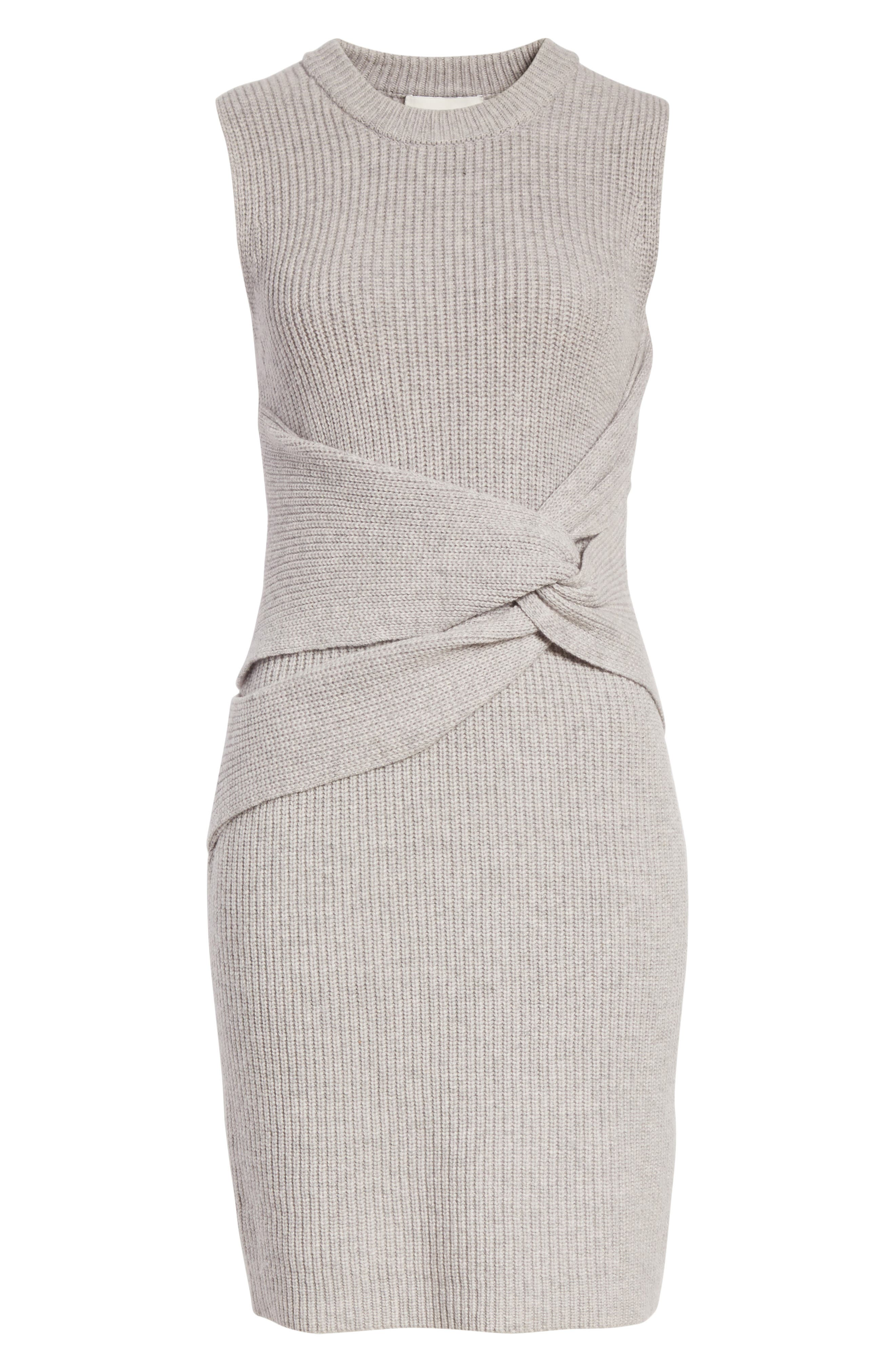 Twist Knit Dress,                             Alternate thumbnail 7, color,                             051