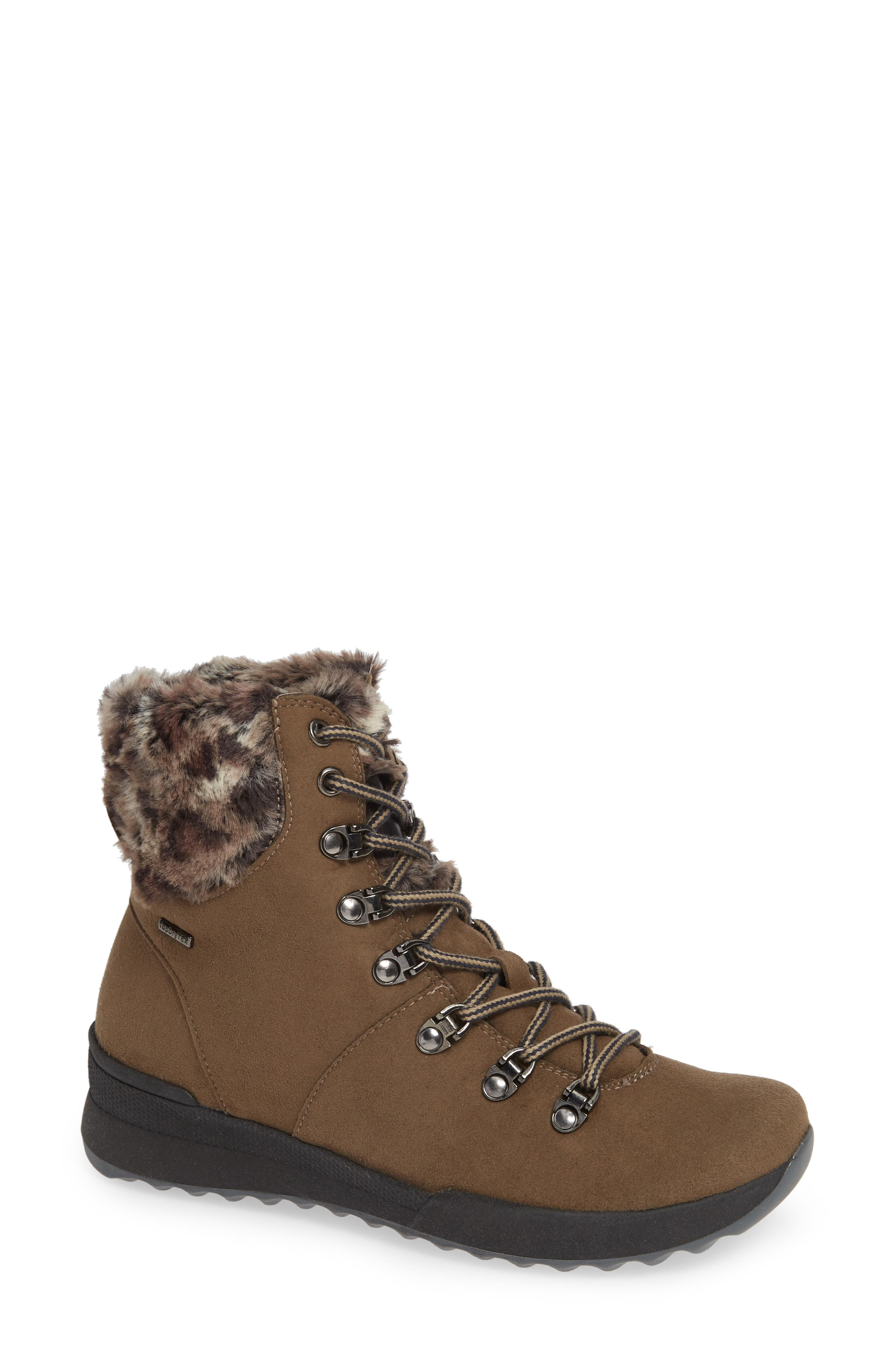 Victoria 17 Bootie,                         Main,                         color, BROWN LEATHER