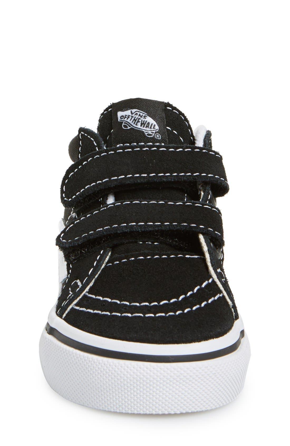 'Sk8-Mid Reissue' Sneaker,                             Alternate thumbnail 3, color,                             BLACK/ TRUE WHITE