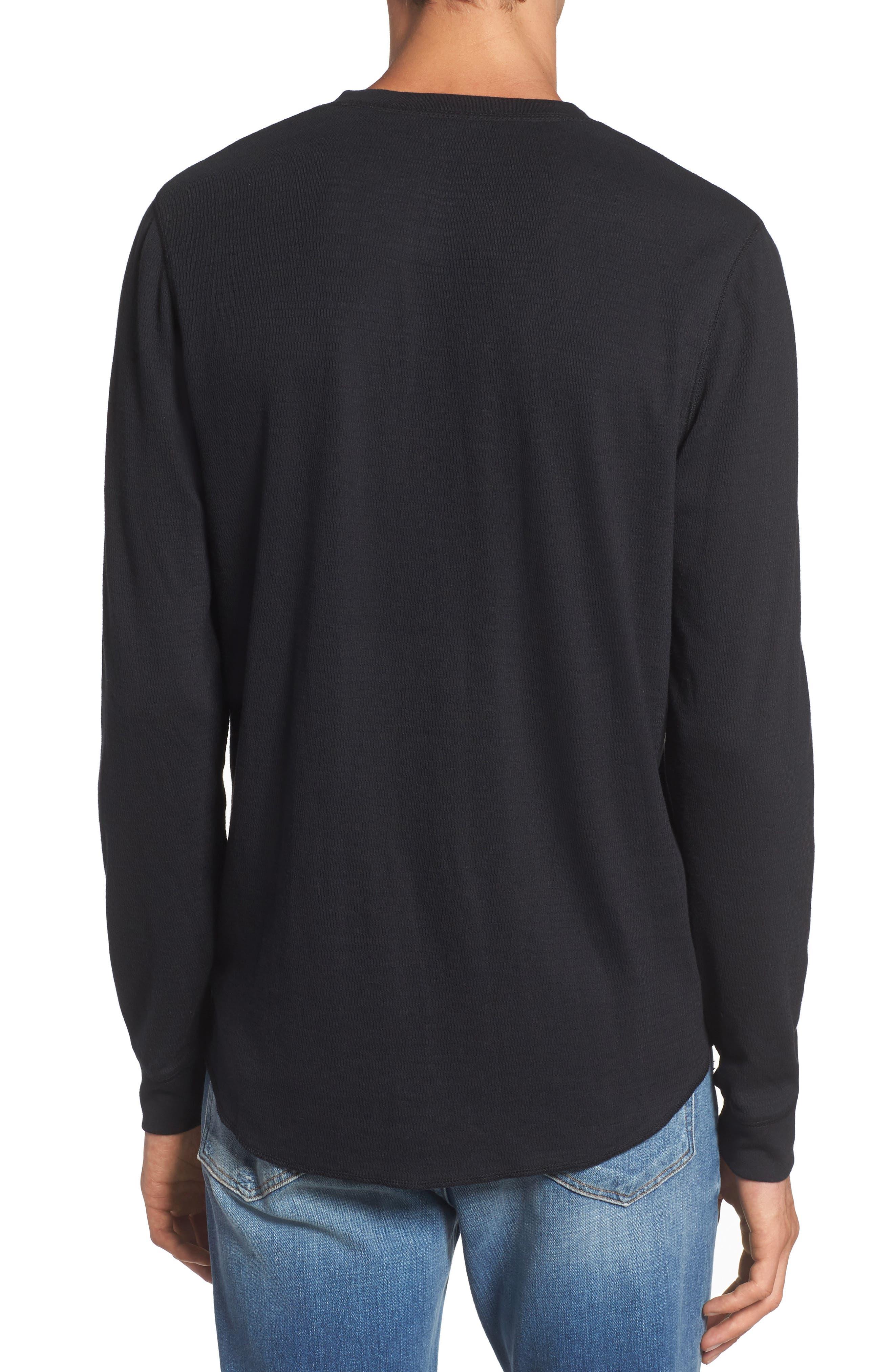 Notch Neck Thermal T-Shirt,                             Alternate thumbnail 9, color,