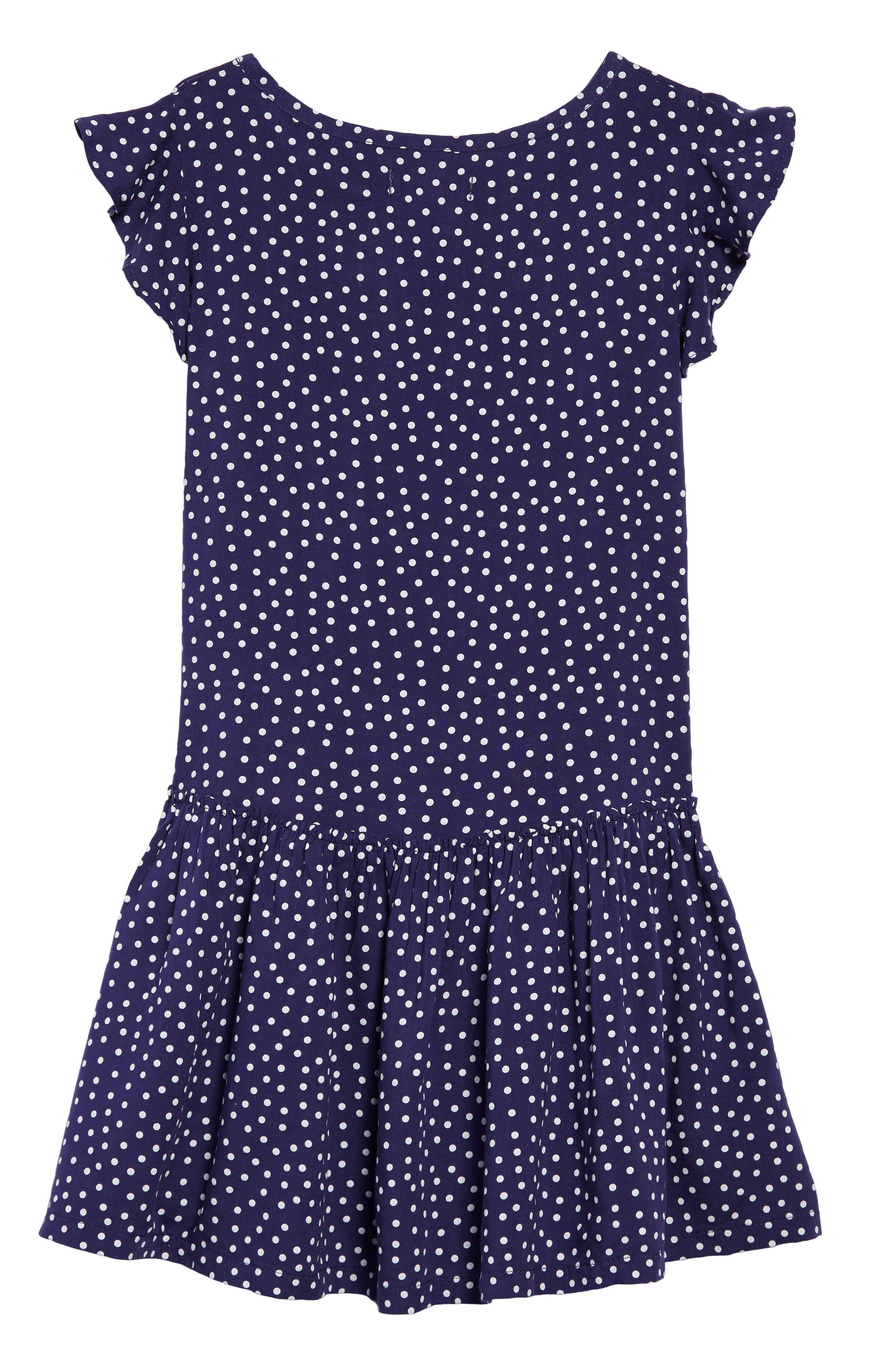 Print Flutter Sleeve Dress,                             Alternate thumbnail 2, color,                             410