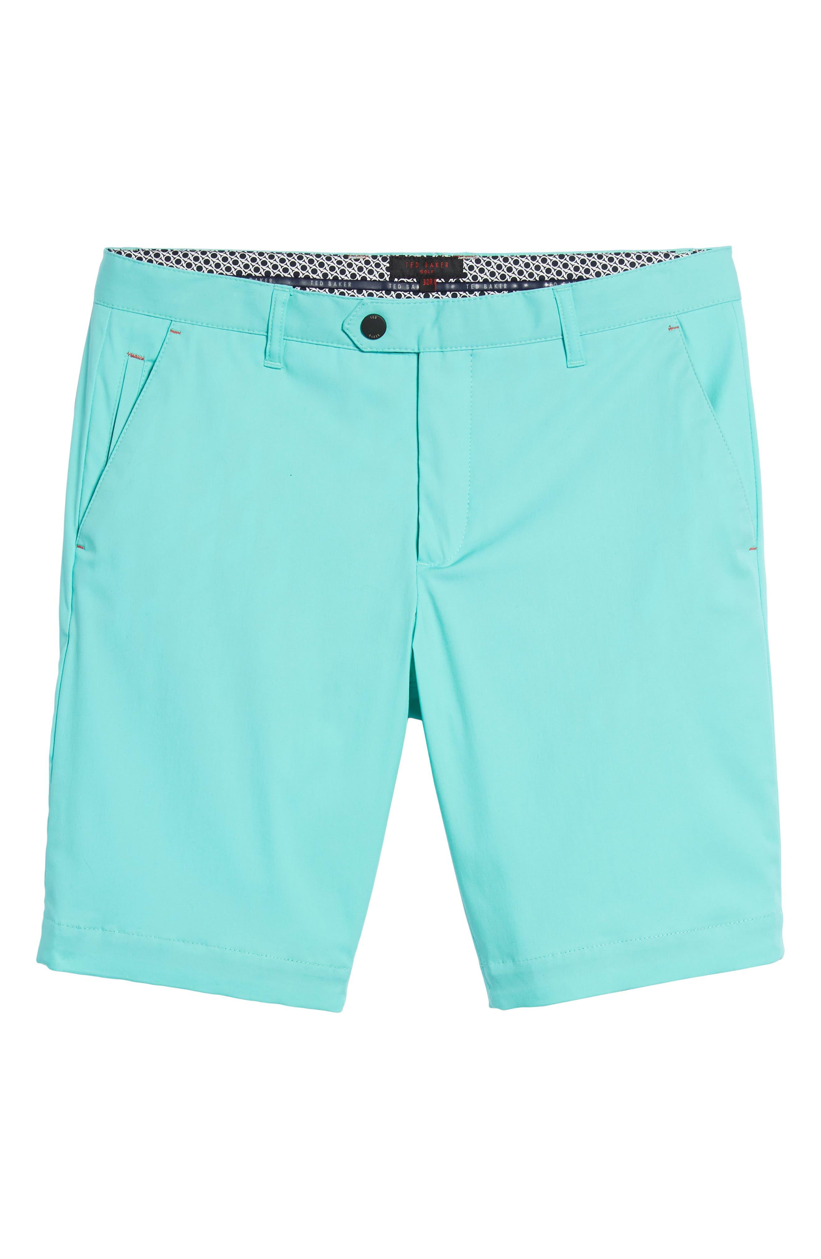 Twopar Flat Front Shorts,                             Alternate thumbnail 6, color,                             GREEN