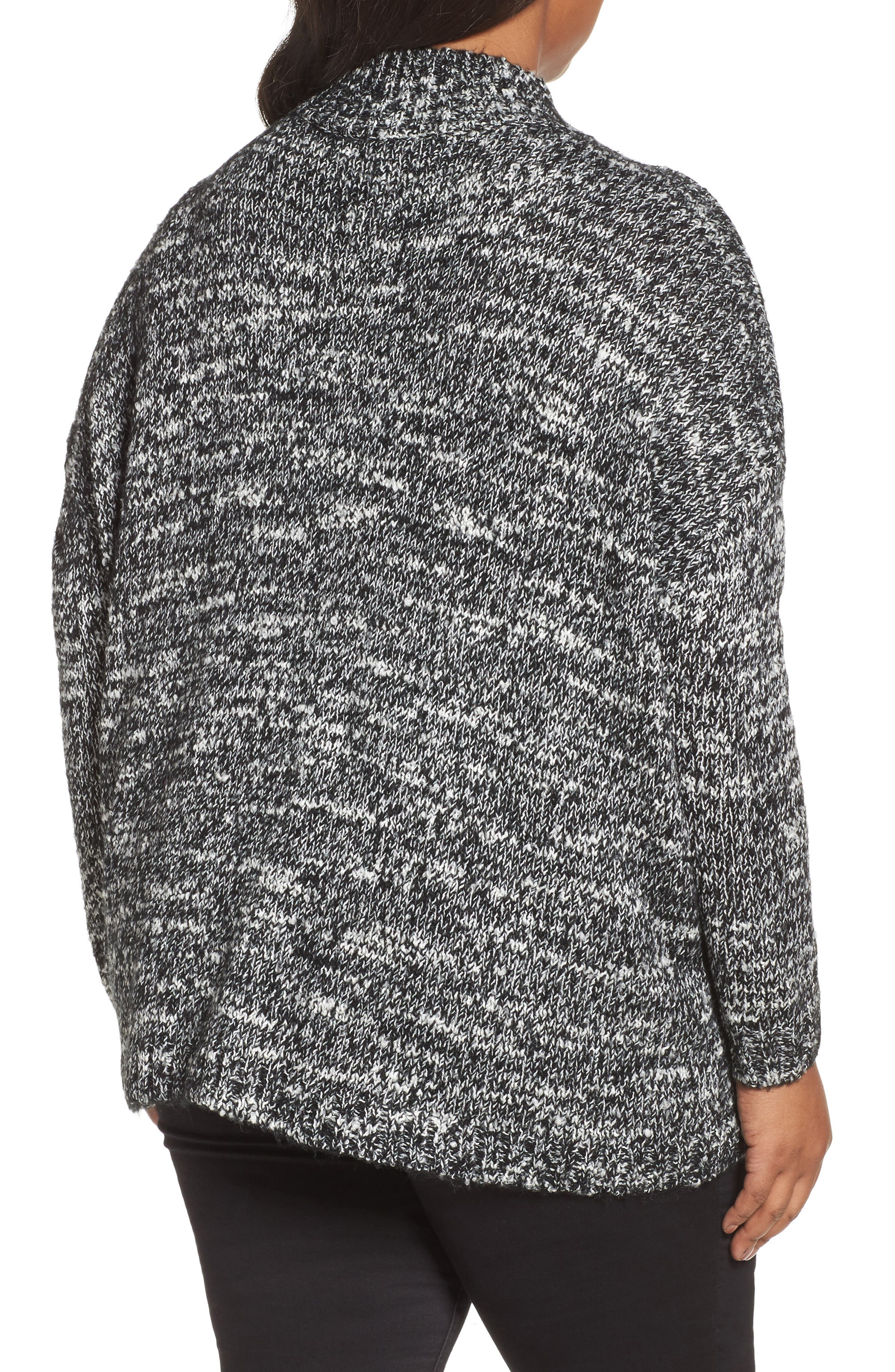 Mock Neck Knit Sweater,                             Alternate thumbnail 2, color,                             001