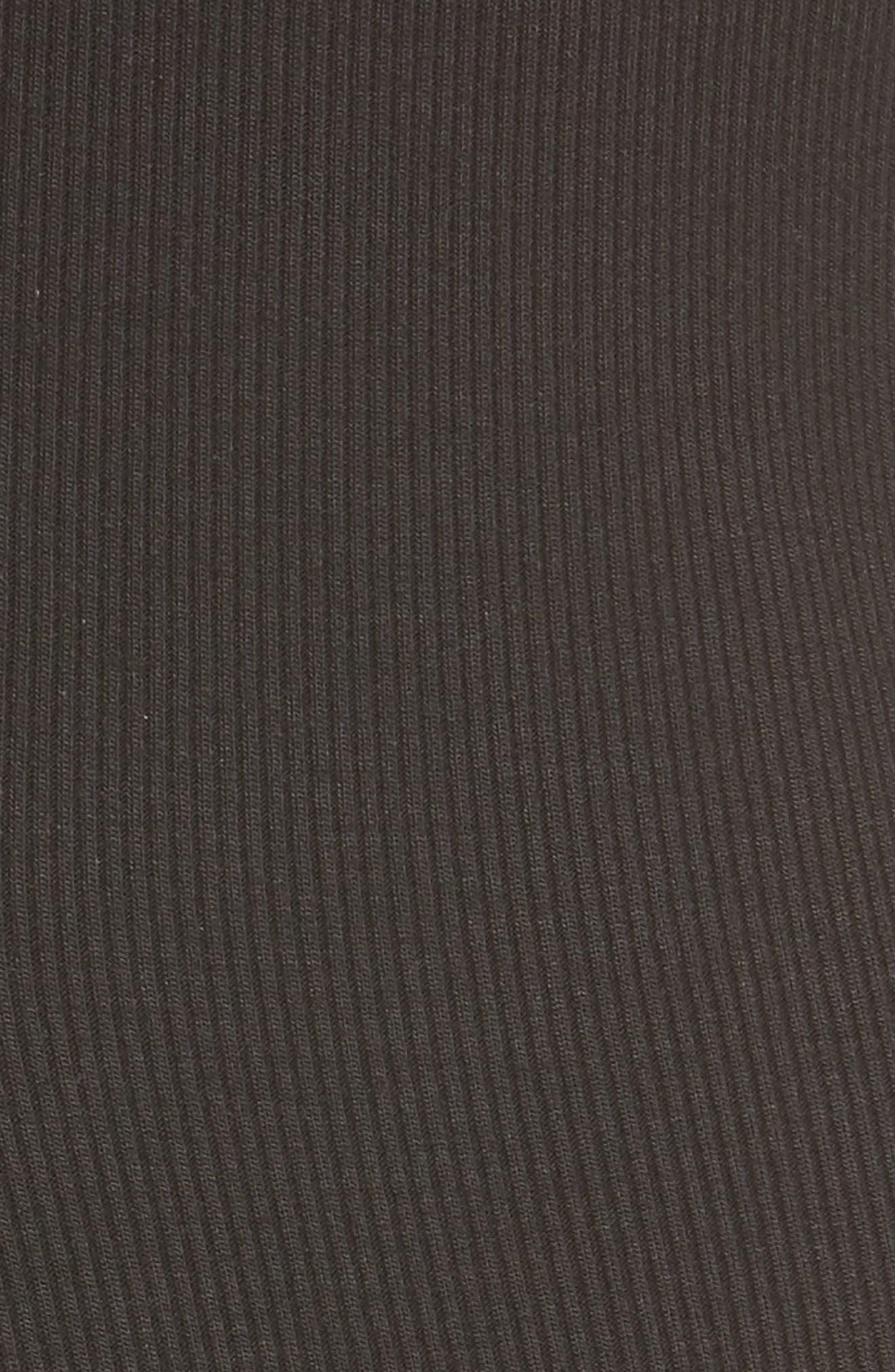 Iman Mock Neck Dress,                             Alternate thumbnail 5, color,                             001