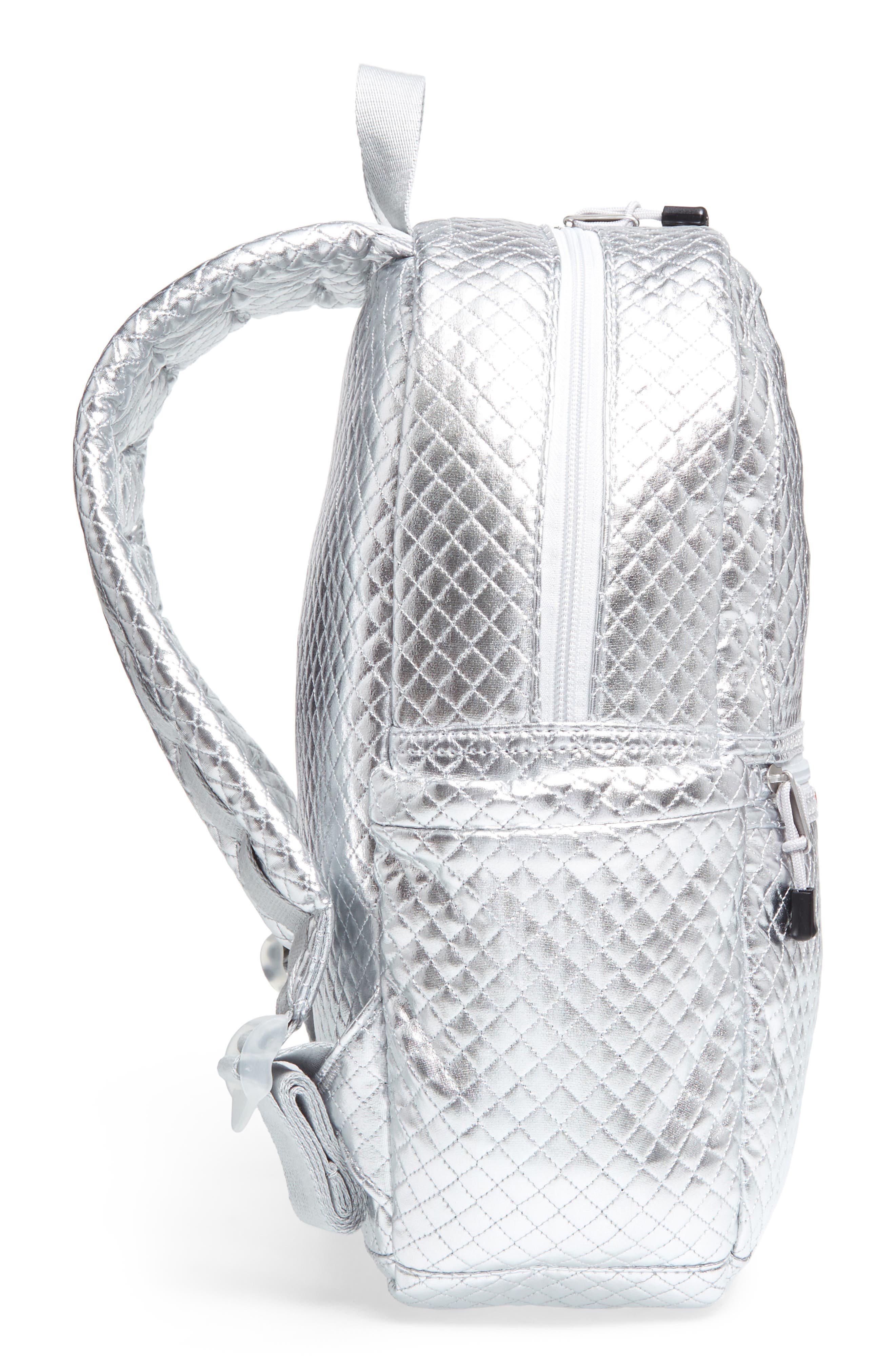 Quilted Metallic Kane Backpack,                             Alternate thumbnail 5, color,                             041