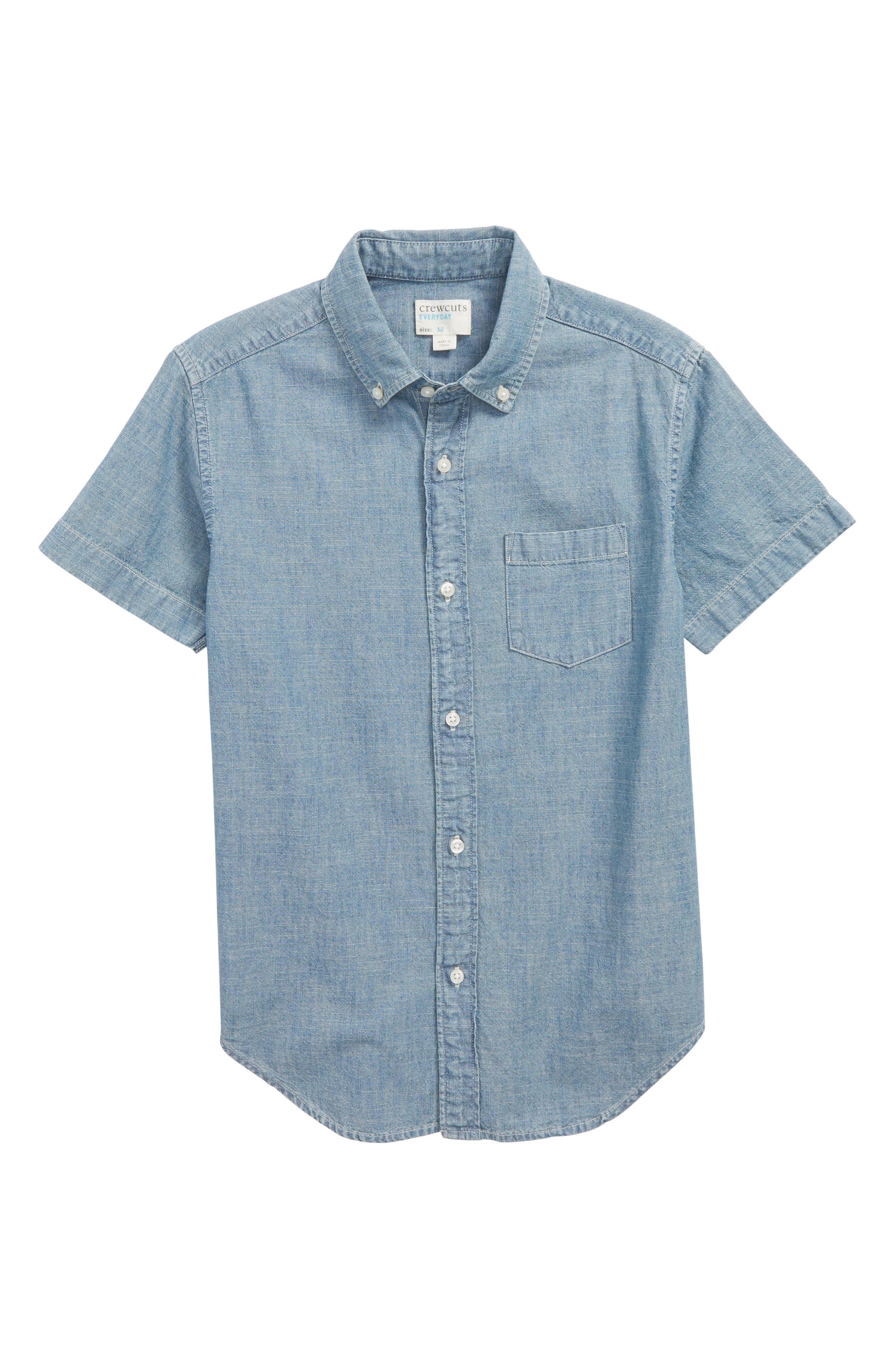 Chambray Woven Shirt,                             Main thumbnail 1, color,