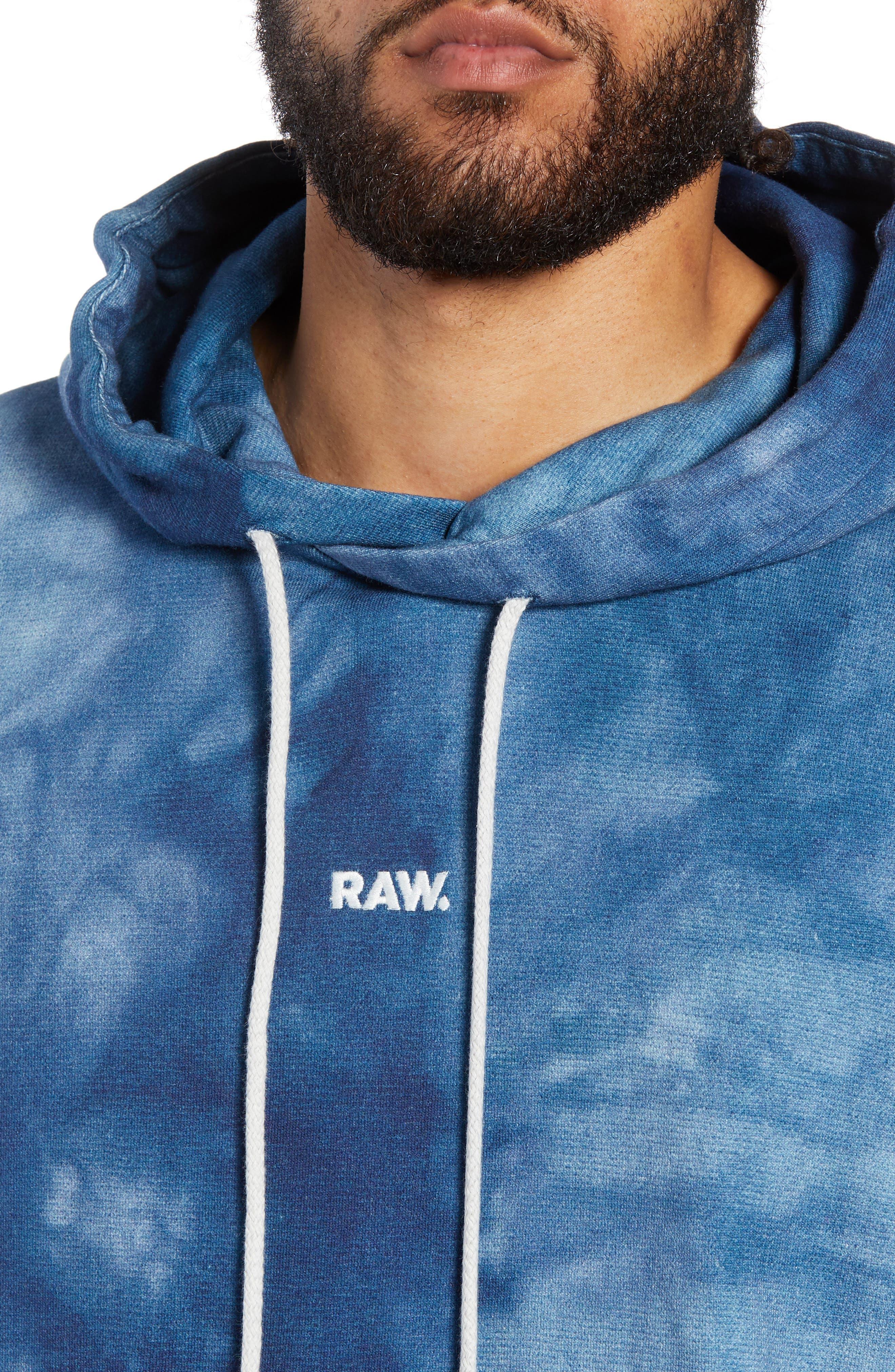 Cryrer Waterfall Hooded Sweatshirt,                             Alternate thumbnail 4, color,                             TEAL BLUE