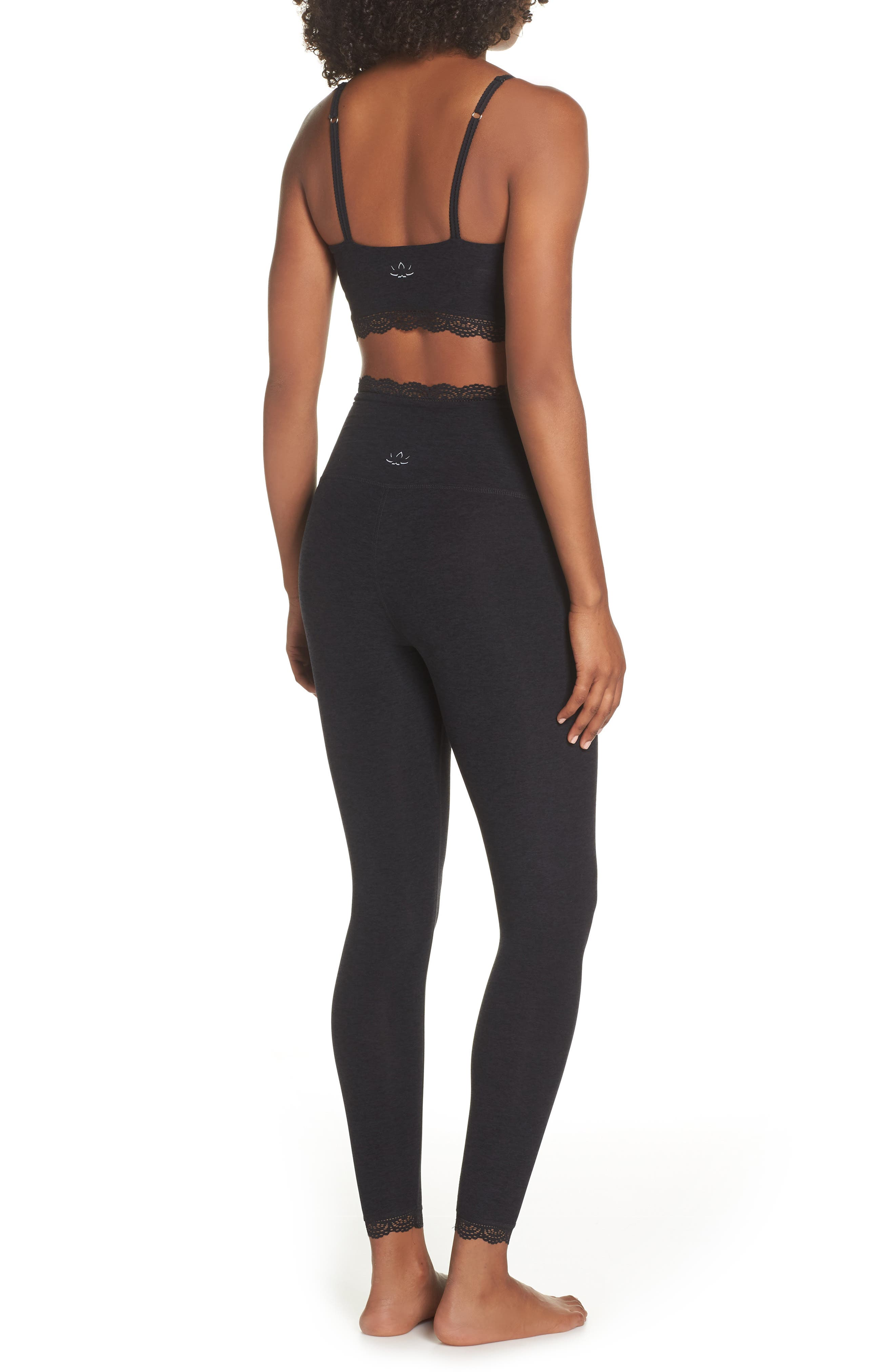 BEYOND YOGA,                             All For Lace Leggings,                             Alternate thumbnail 9, color,                             003