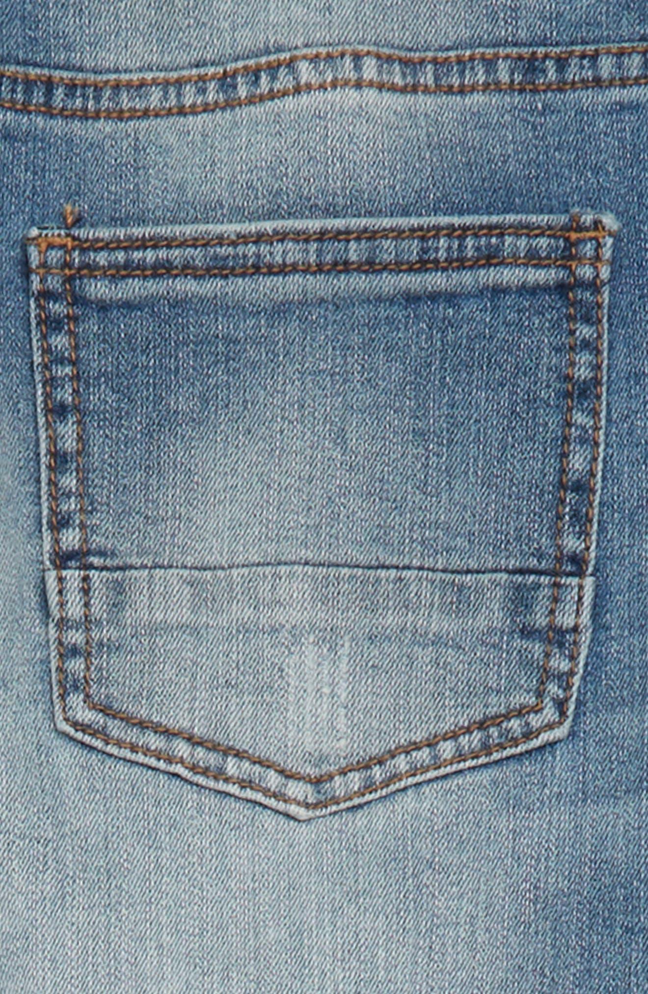 Elwood Pieced Skinny Jeans,                             Alternate thumbnail 3, color,                             424