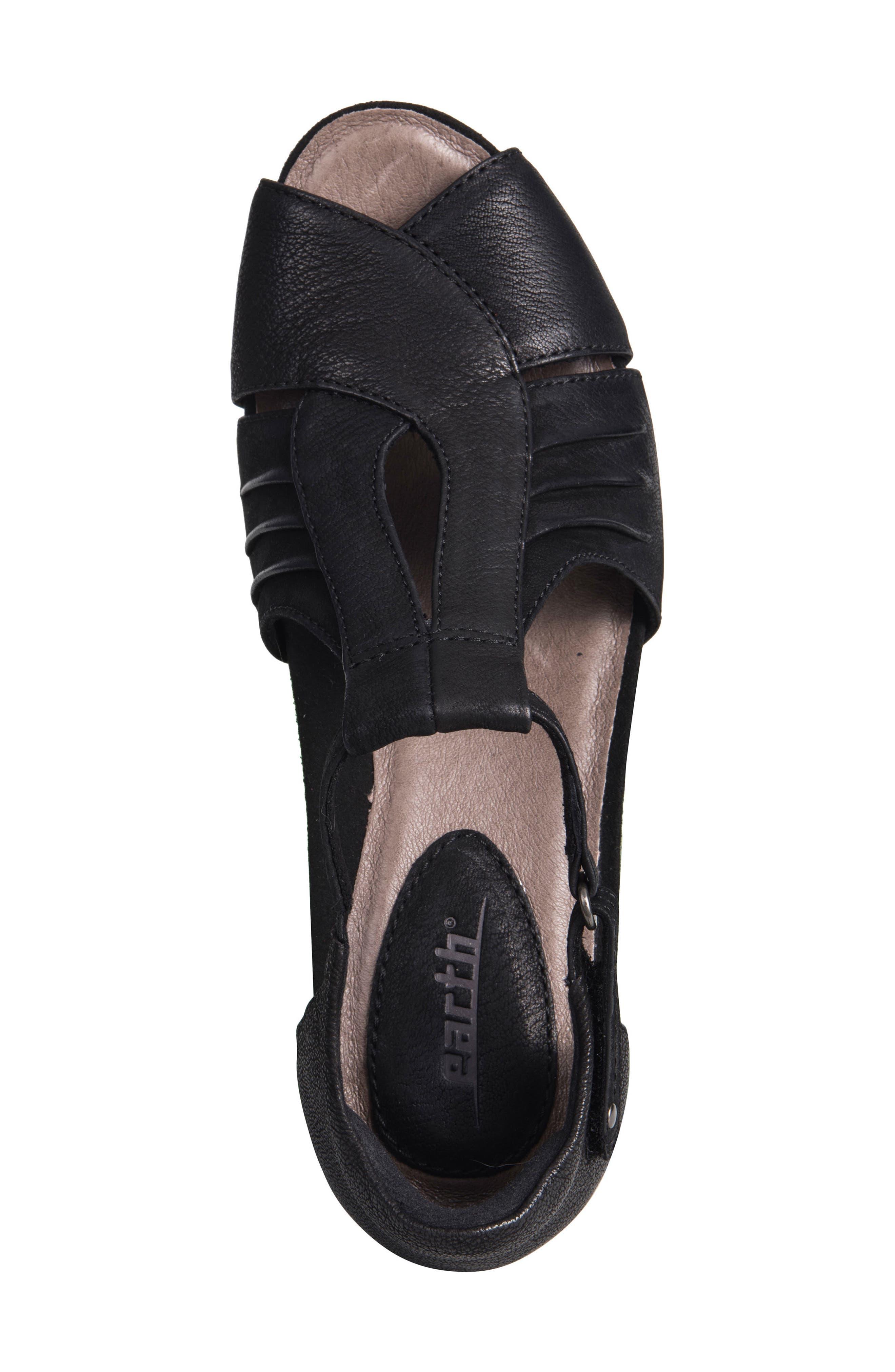 Primrose Wedge Sandal,                             Alternate thumbnail 5, color,                             001