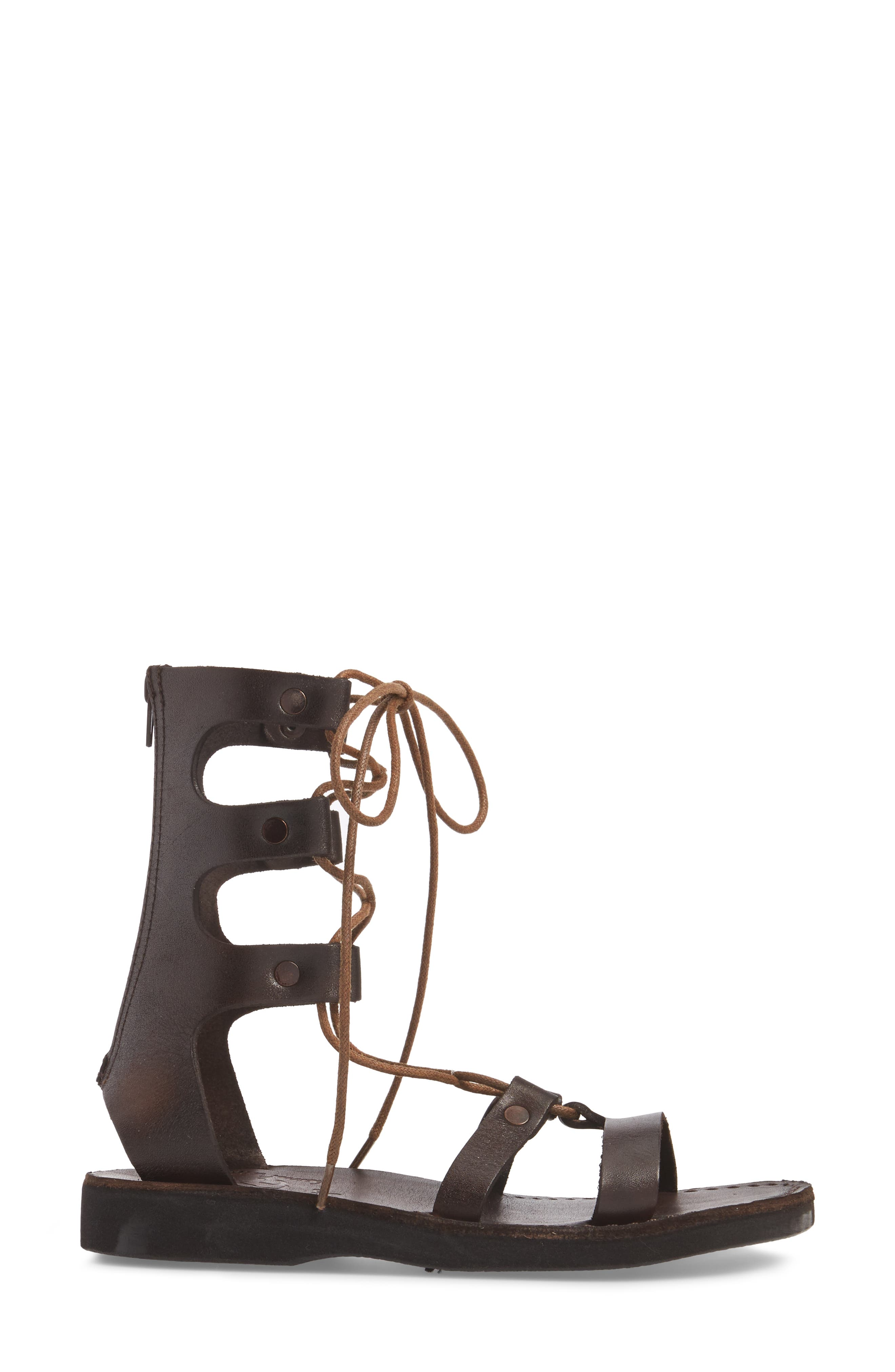 Rebecca Sandal,                             Alternate thumbnail 3, color,                             BROWN LEATHER