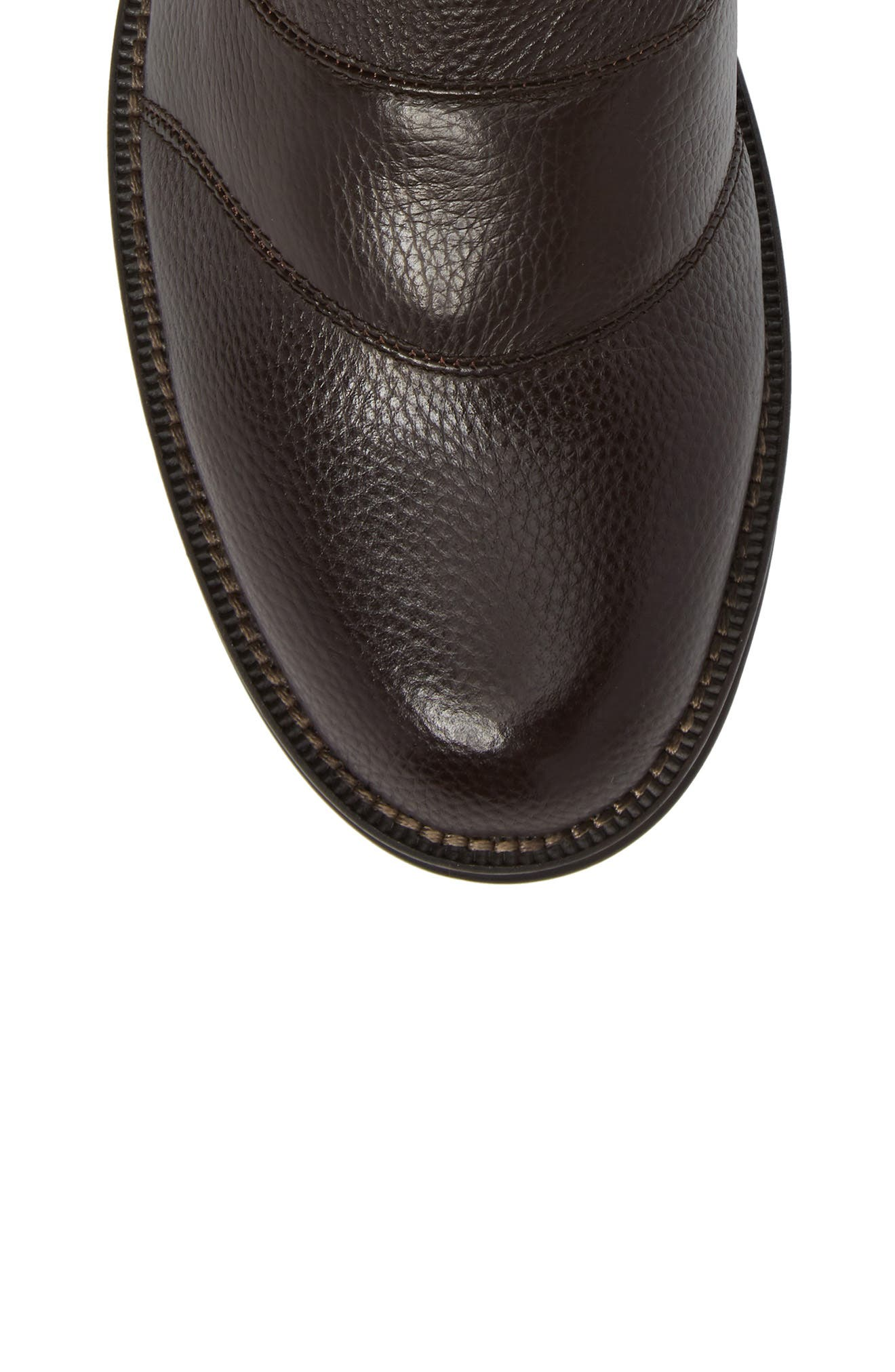 Howson Buckle Strap Boot,                             Alternate thumbnail 5, color,                             BROWN LEATHER