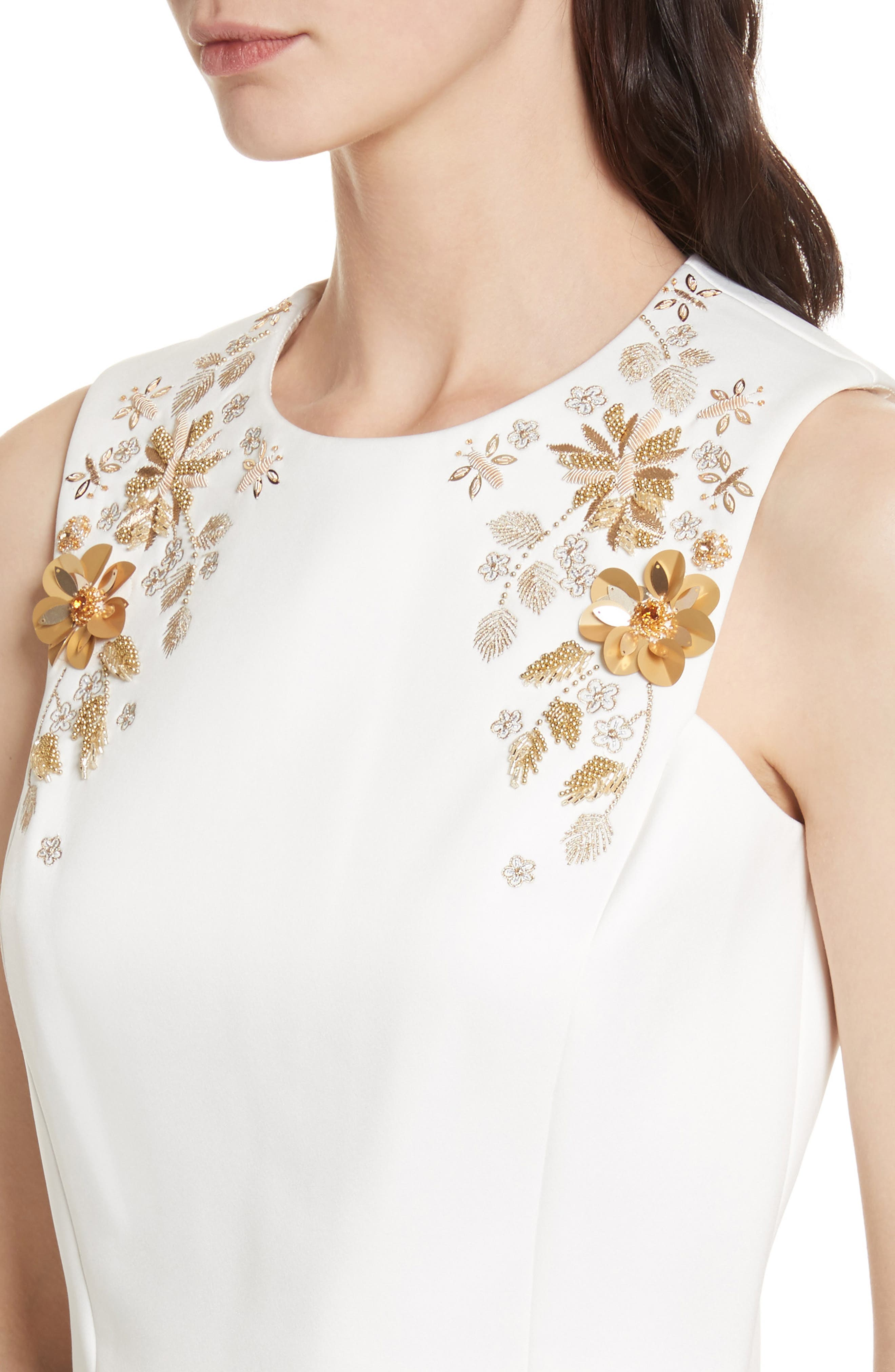 Embellished Bee Sleeveless Crop Top,                             Alternate thumbnail 4, color,                             115