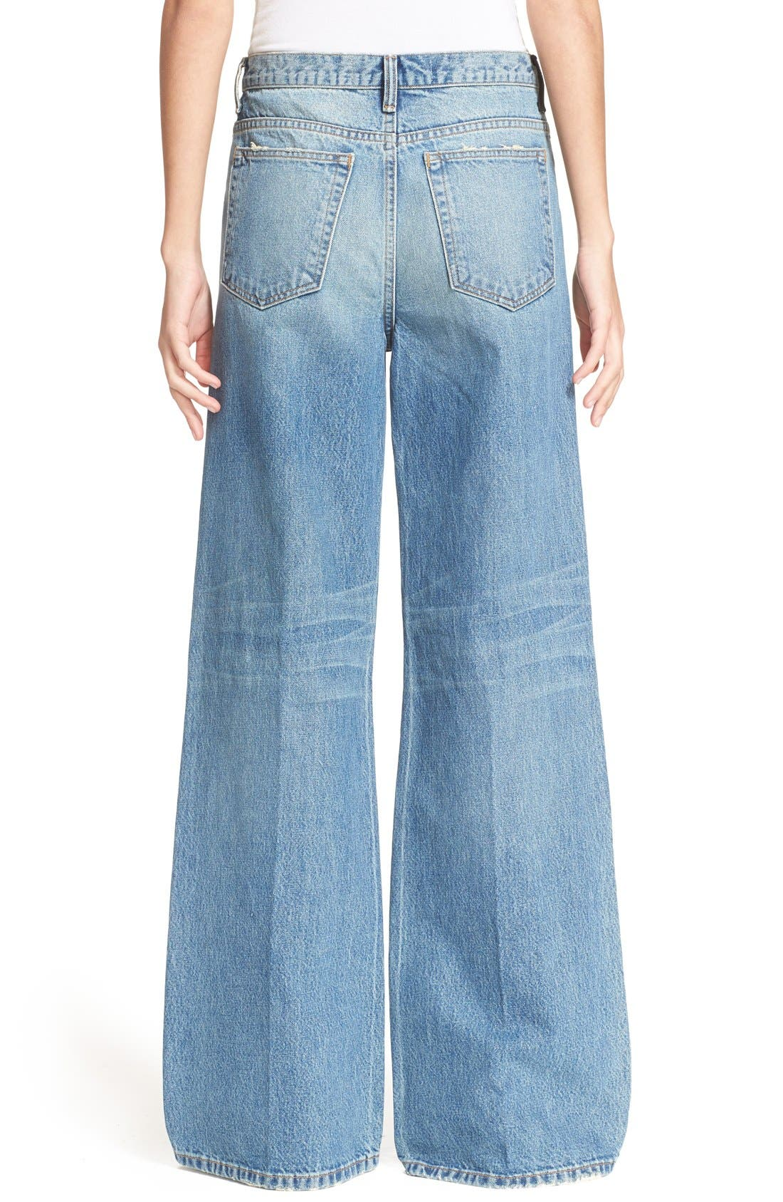 Denim x Alexander Wang Rave Wide Leg Jeans,                             Alternate thumbnail 5, color,                             453