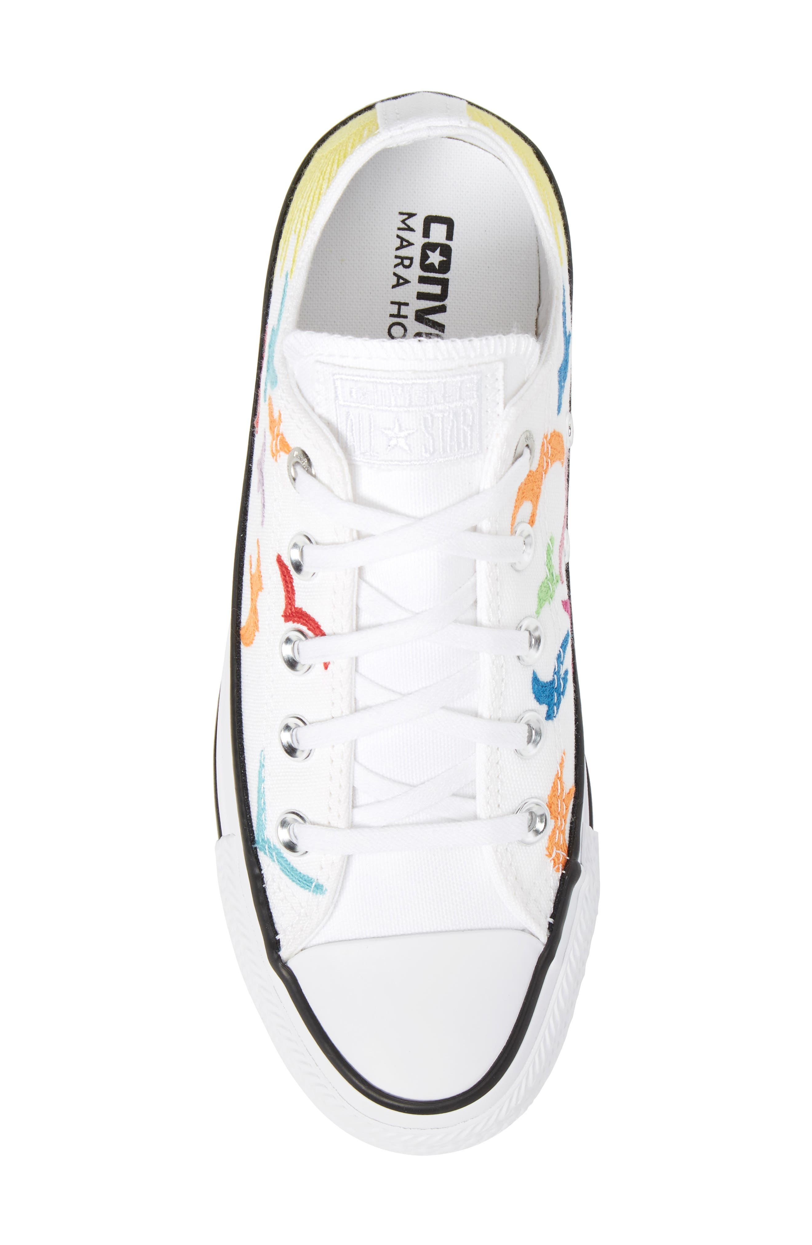 x Mara Hoffman All Star<sup>®</sup> Embroidered Ox Sneaker,                             Alternate thumbnail 5, color,                             100