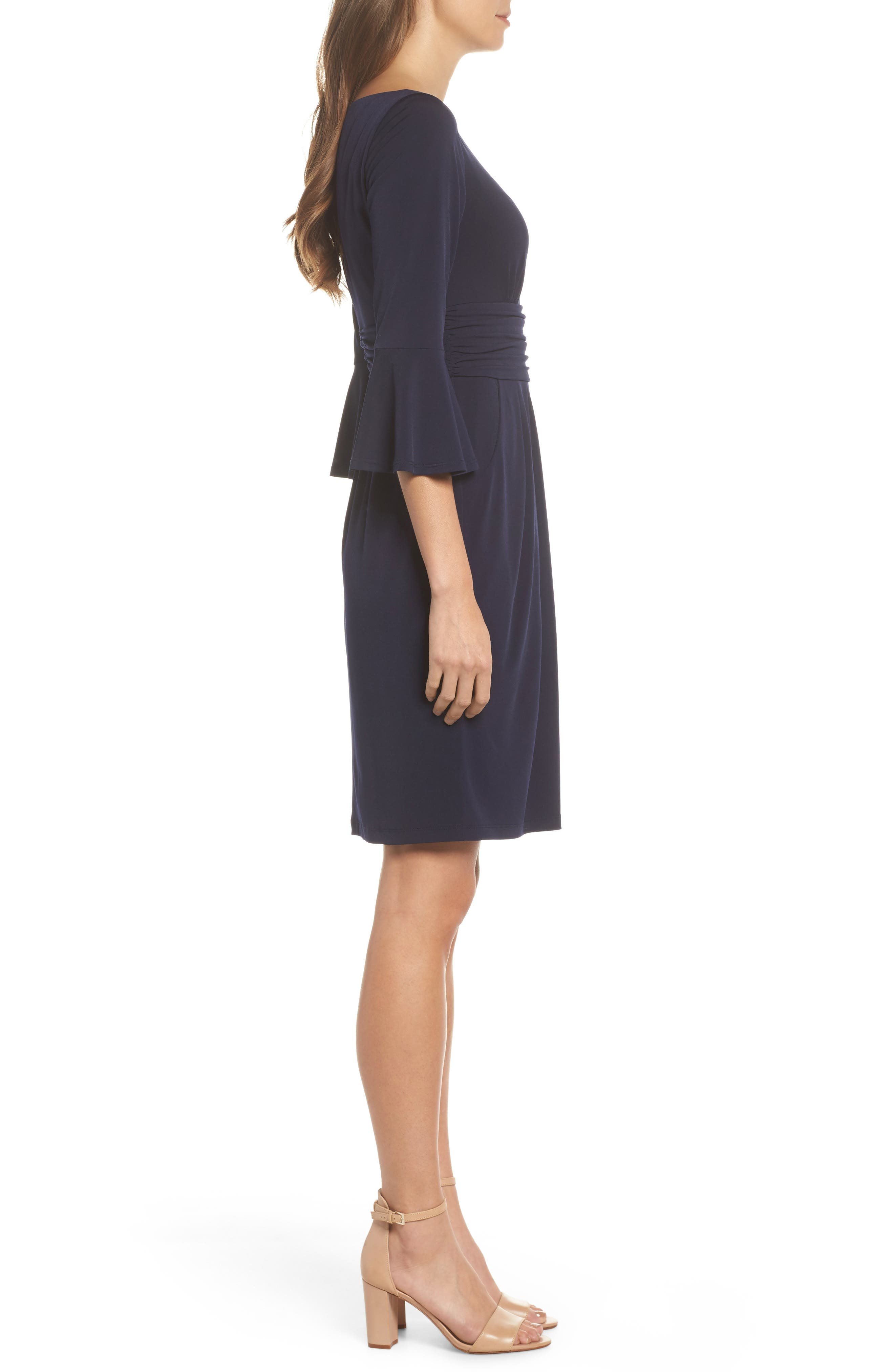 Flounce Sleeve Sheath Dress,                             Alternate thumbnail 5, color,