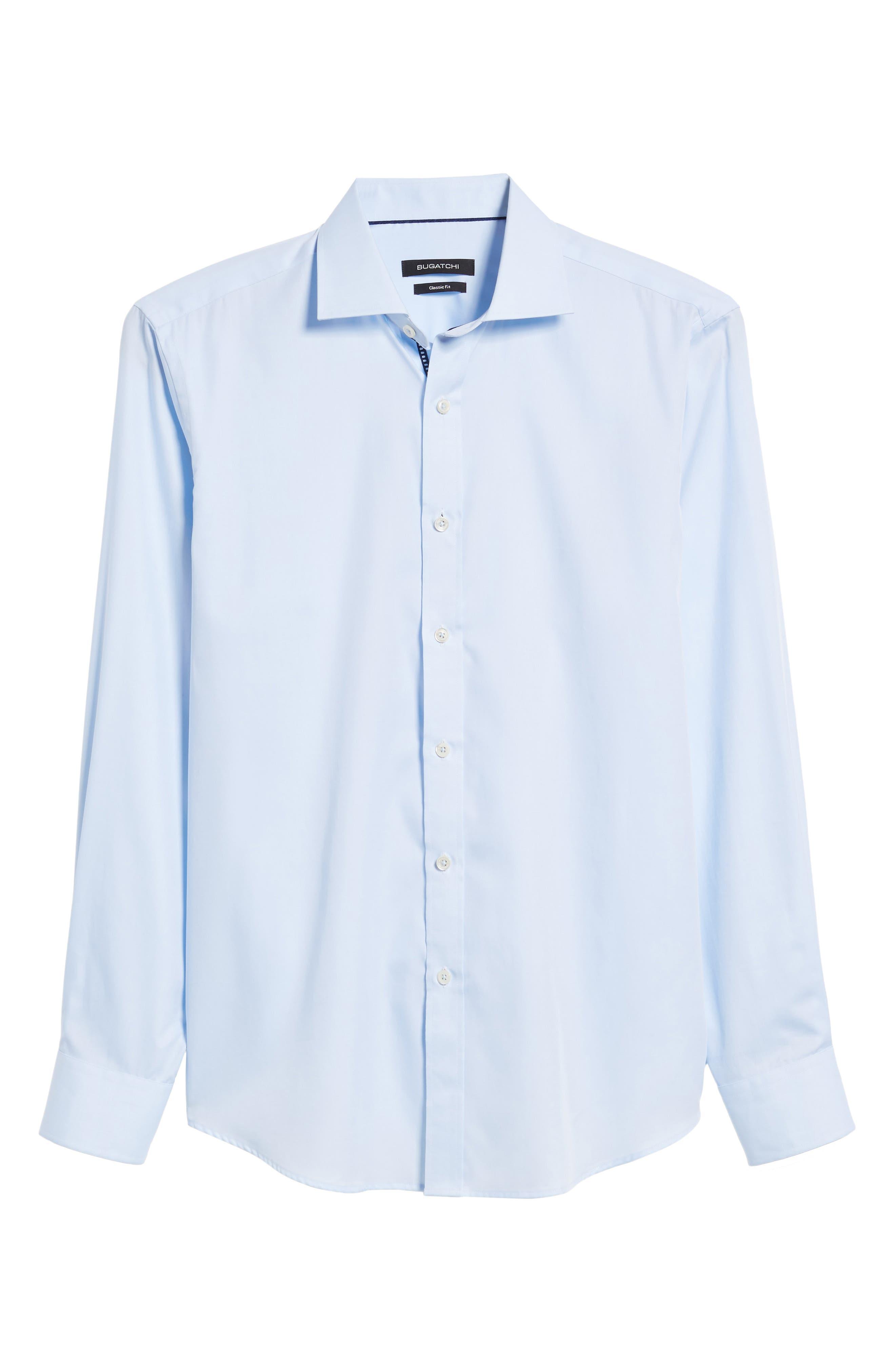 Classic Fit Sport Shirt,                             Alternate thumbnail 6, color,                             ICE BLUE