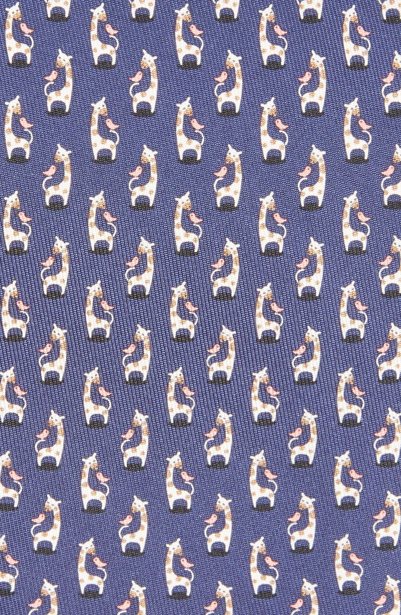 Giraffe Silk Tie,                             Alternate thumbnail 6, color,