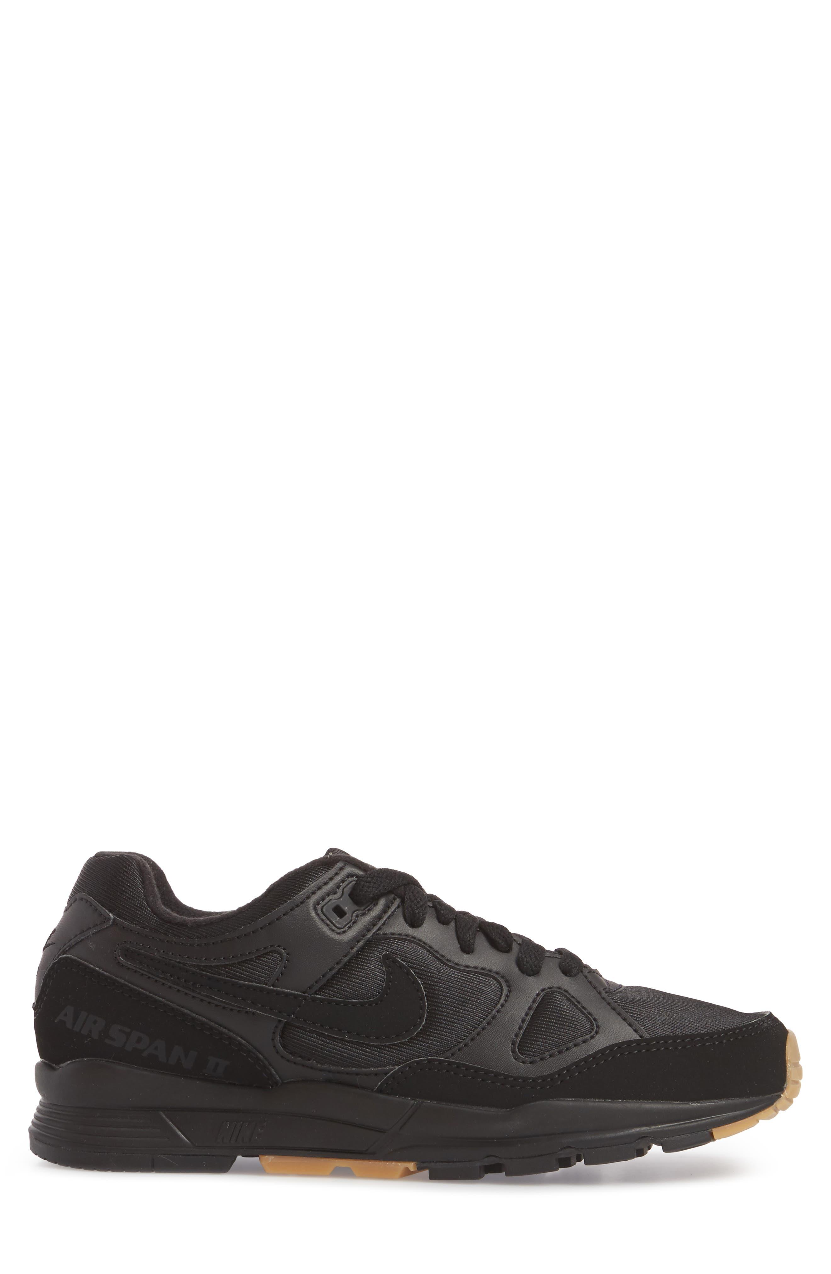 Air Span II Sneaker,                             Alternate thumbnail 3, color,                             BLACK/ BLACK/ BLACK