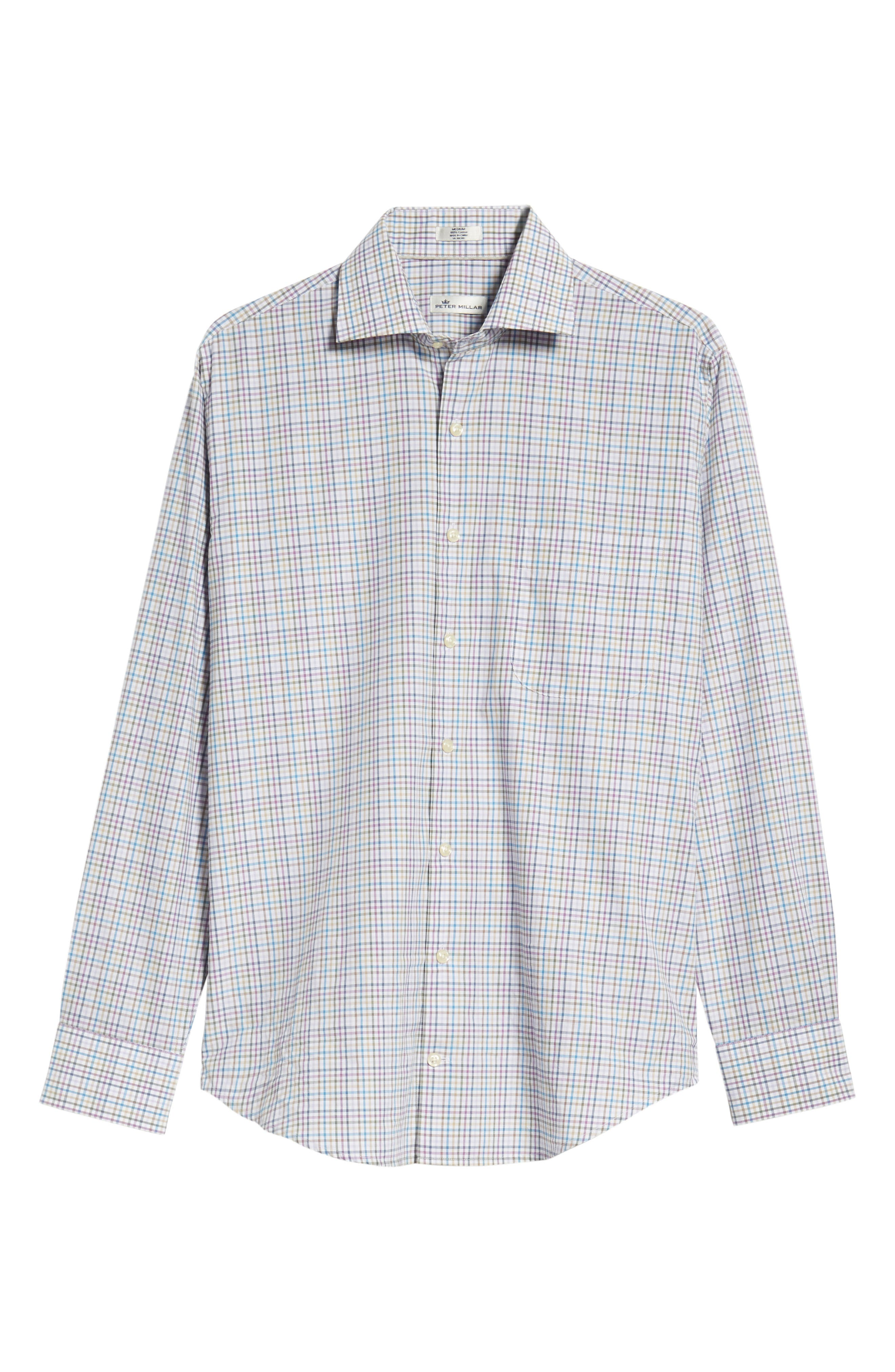 Whittier Heights Check Sport Shirt,                             Alternate thumbnail 5, color,                             BEET