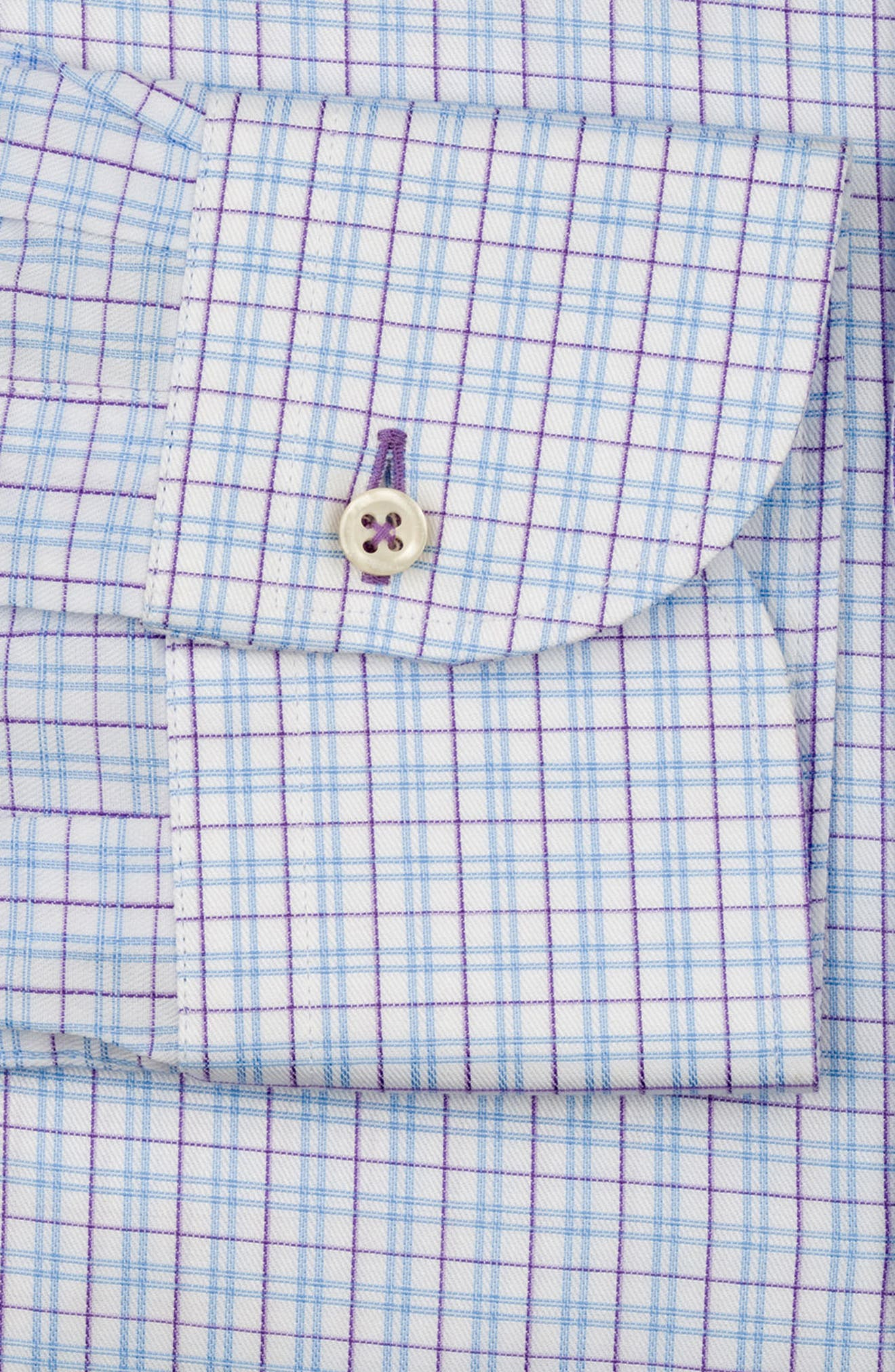 Regular Fit Check Dress Shirt,                             Alternate thumbnail 6, color,                             WHITE MULTI