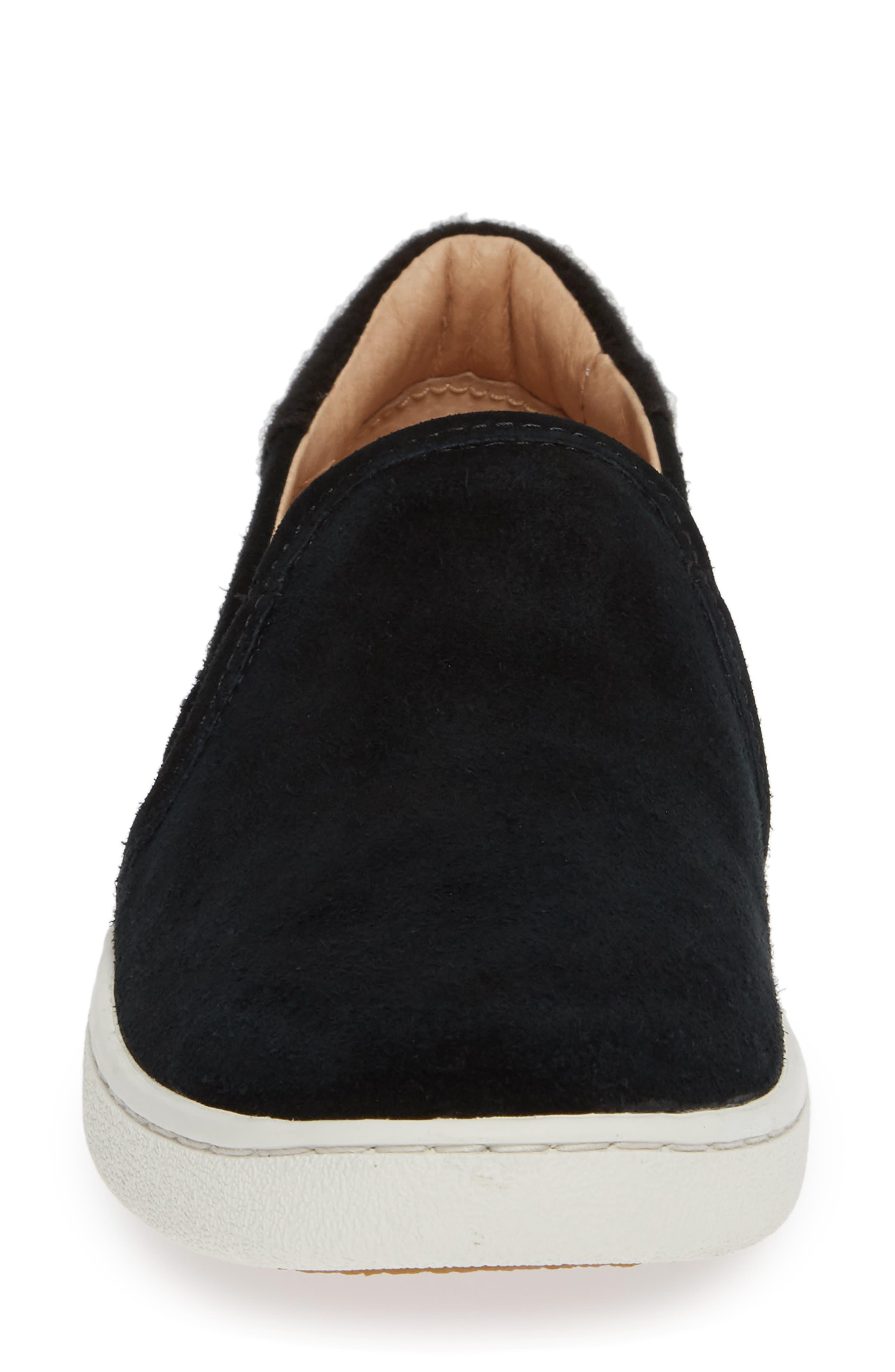 Cas Slip-On Sneaker,                             Alternate thumbnail 4, color,                             BLACK