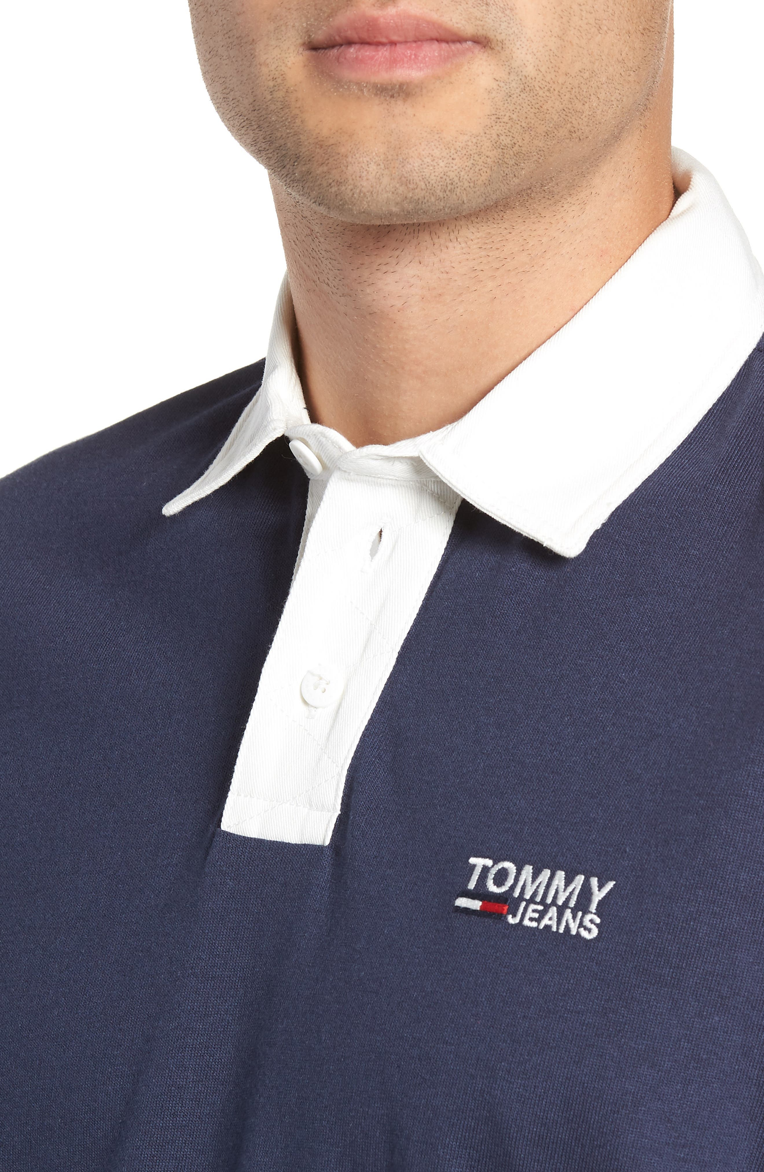 TJM Essential Rugby Shirt,                             Alternate thumbnail 4, color,                             BLACK IRIS