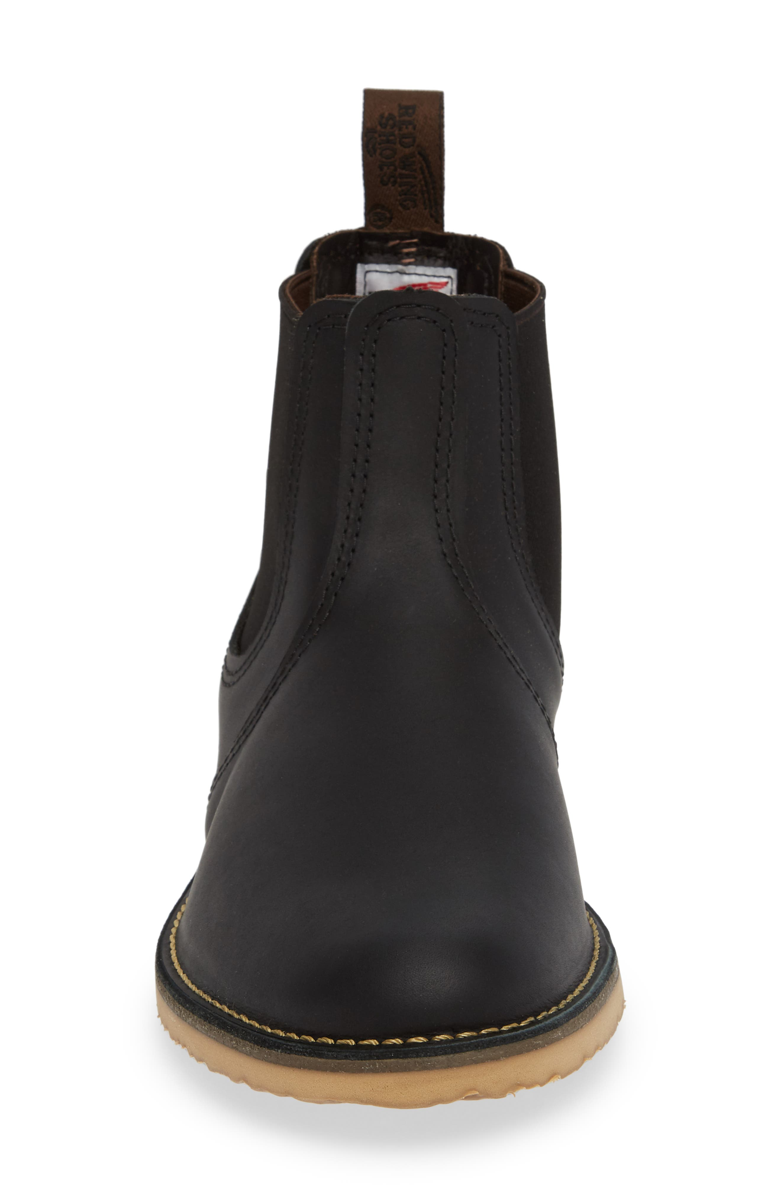 RED WING,                             Chelsea Boot,                             Alternate thumbnail 4, color,                             BLACK HARNESS LEATHER