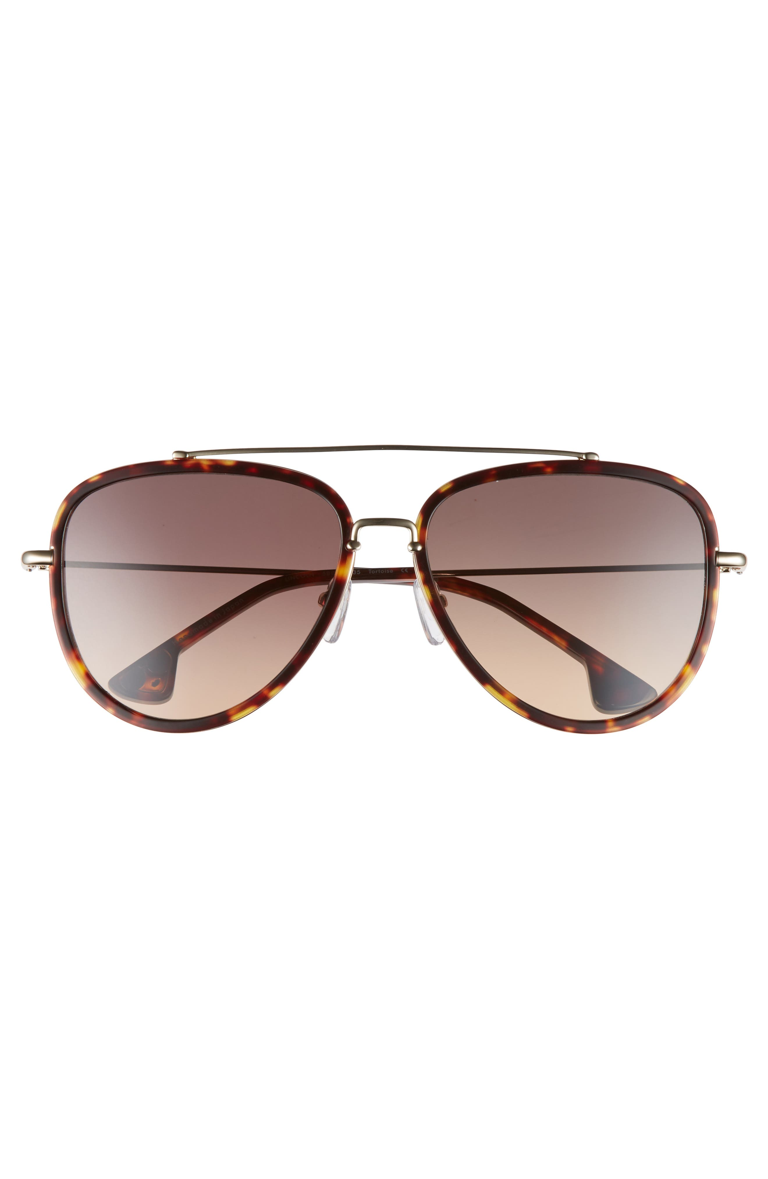 Lincoln 58mm Aviator Sunglasses,                             Alternate thumbnail 10, color,