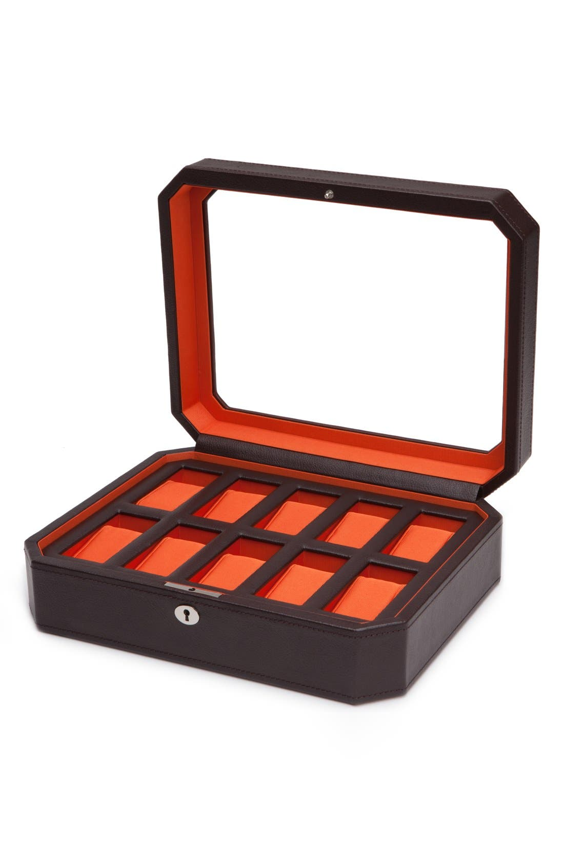 Windsor Watch Case,                             Alternate thumbnail 2, color,                             BROWN/ ORANGE