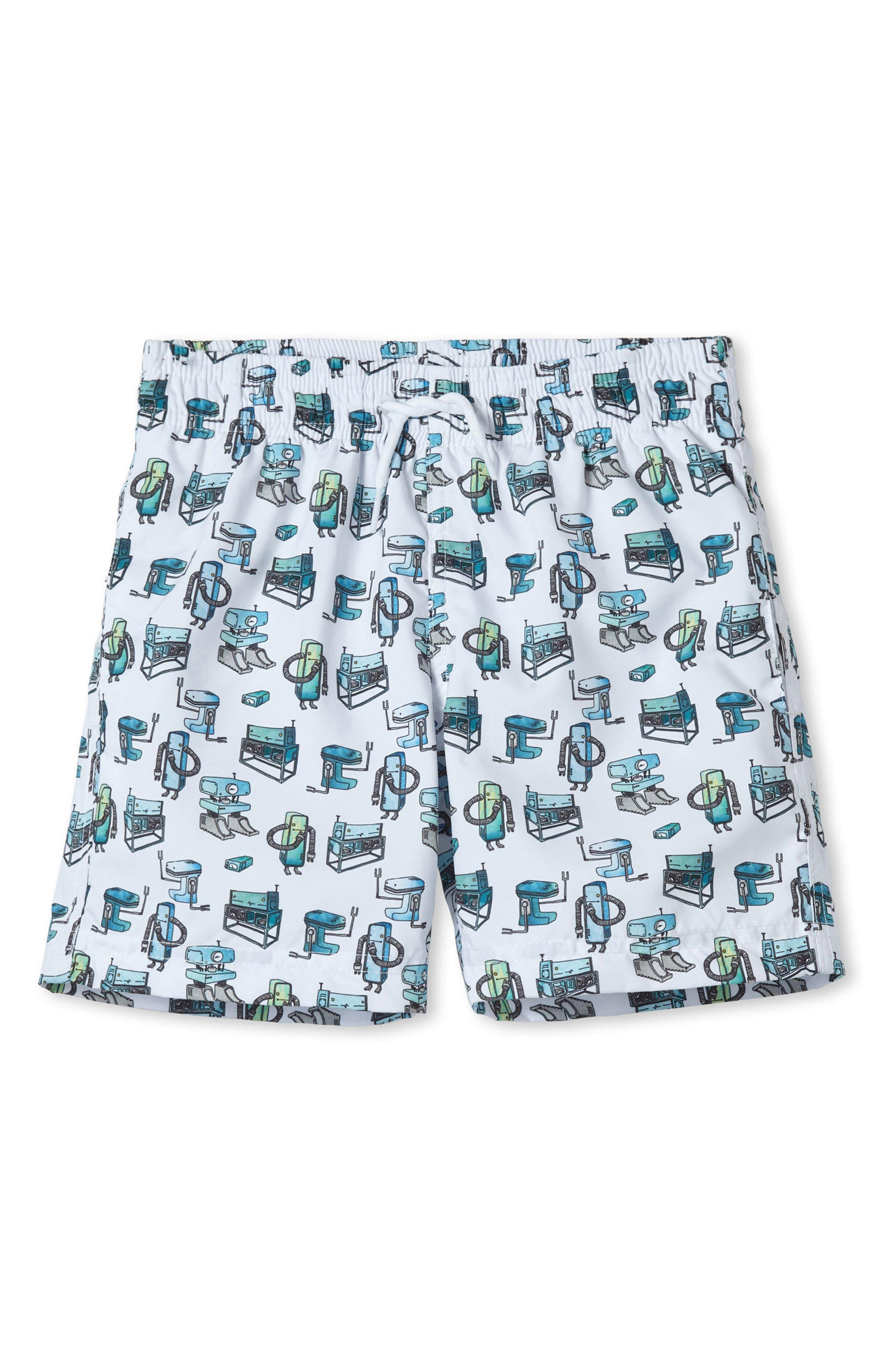 Small Robot Swim Trunks,                         Main,                         color, 100
