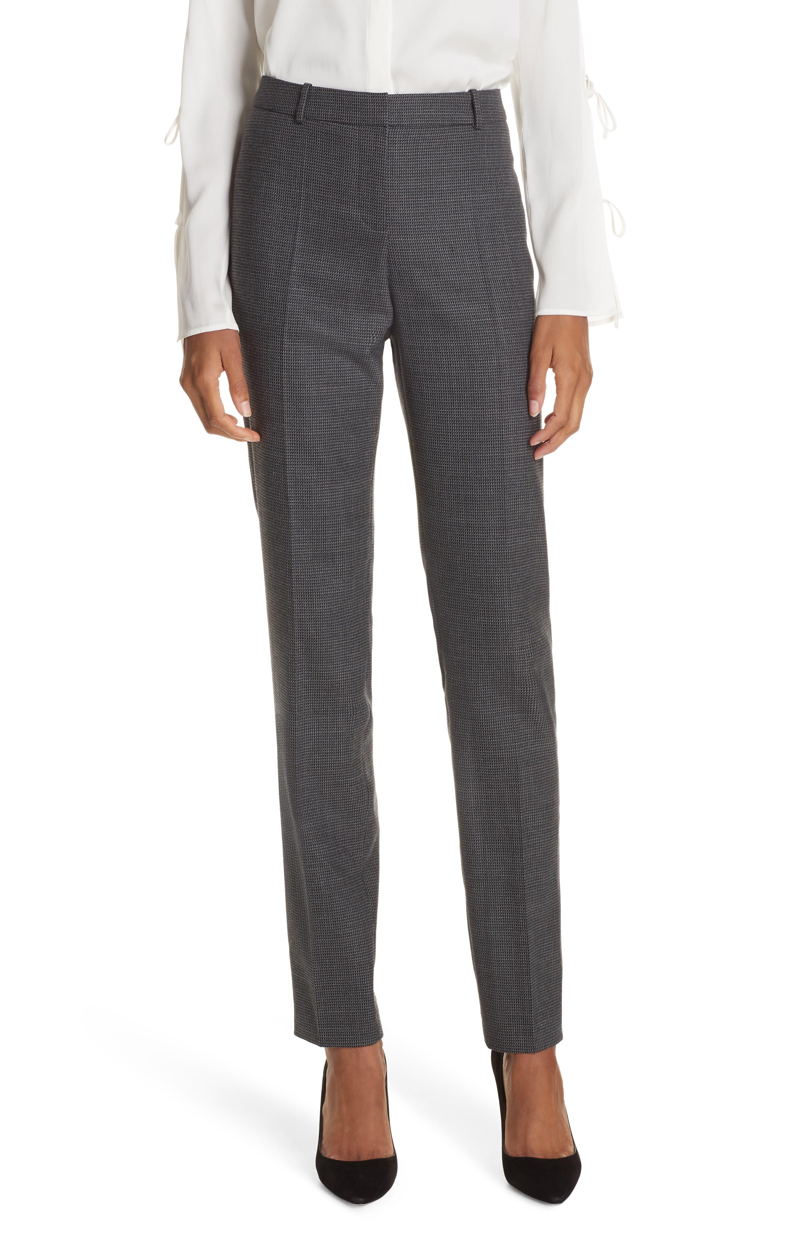 Tilunana Pinstripe Suit Trousers,                             Main thumbnail 1, color,                             020