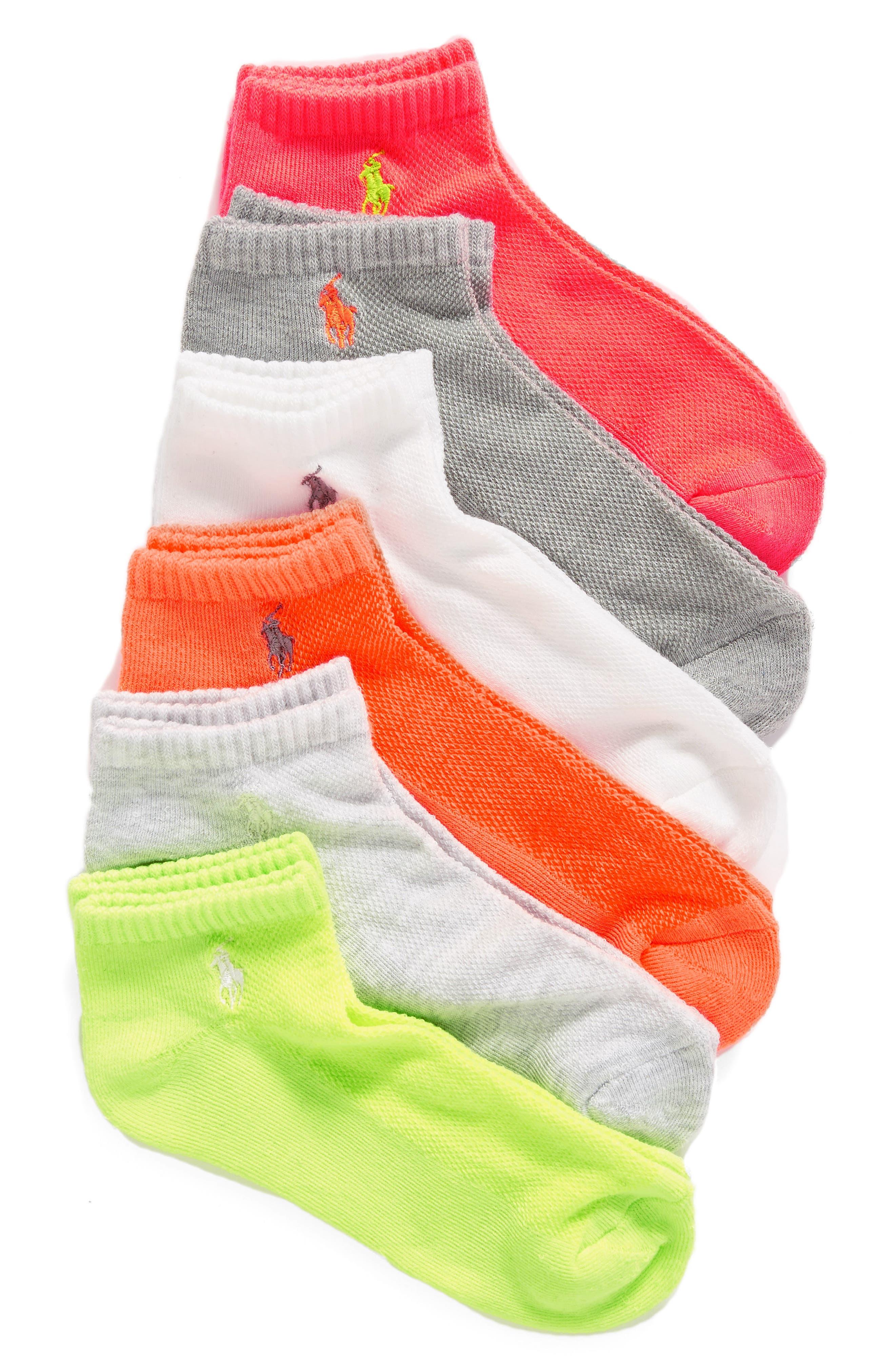 Sport 6-Pack Low-Cut Socks,                             Main thumbnail 10, color,