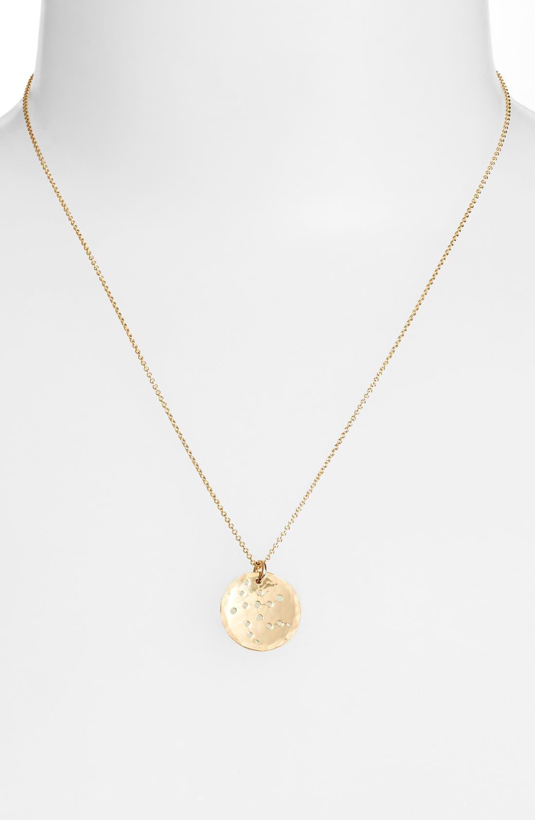 Ija 'Small Zodiac' 14k-Gold Fill Necklace,                             Alternate thumbnail 18, color,