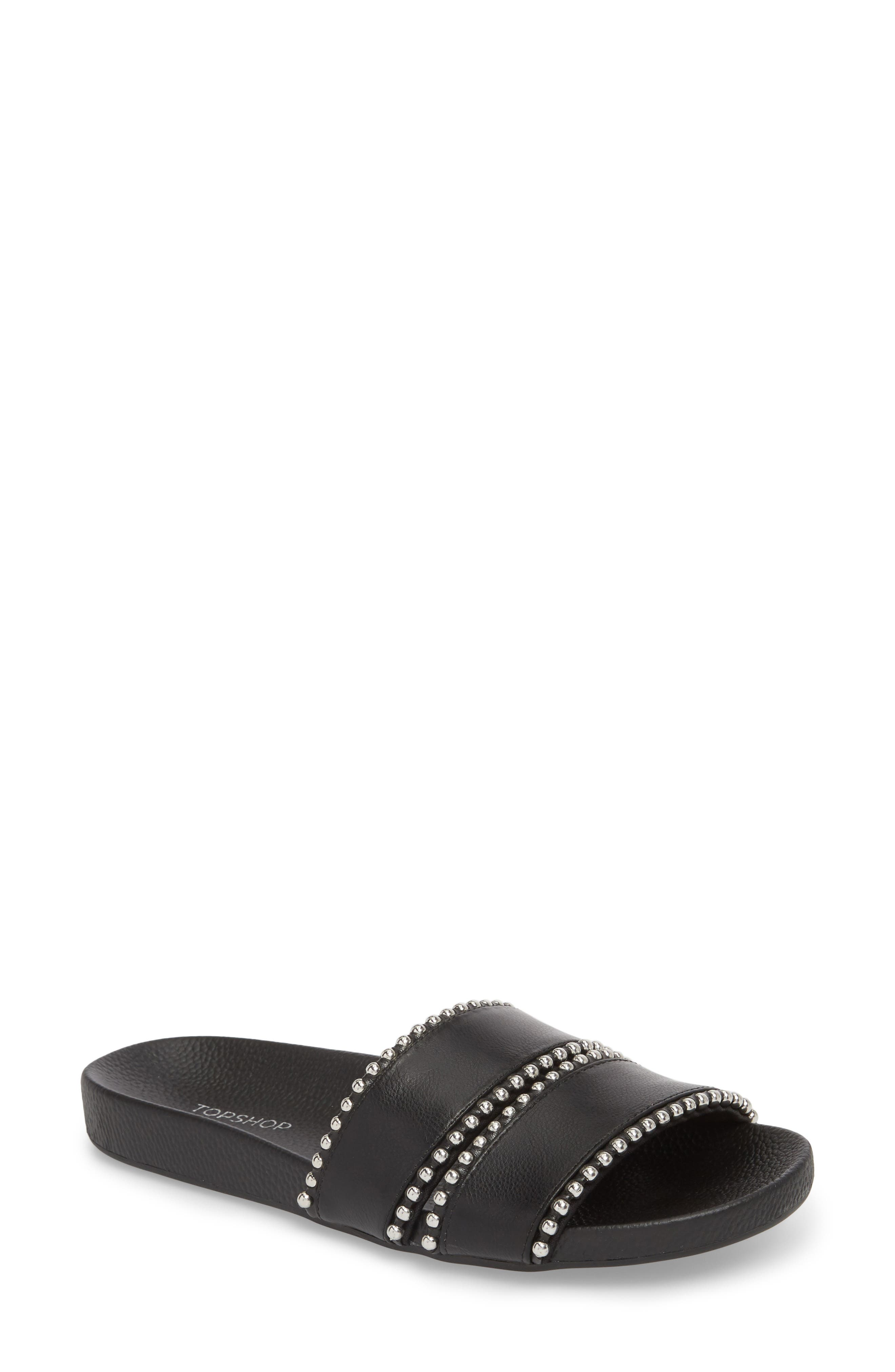 Rascal Studded Slide Sandal,                         Main,                         color, 001