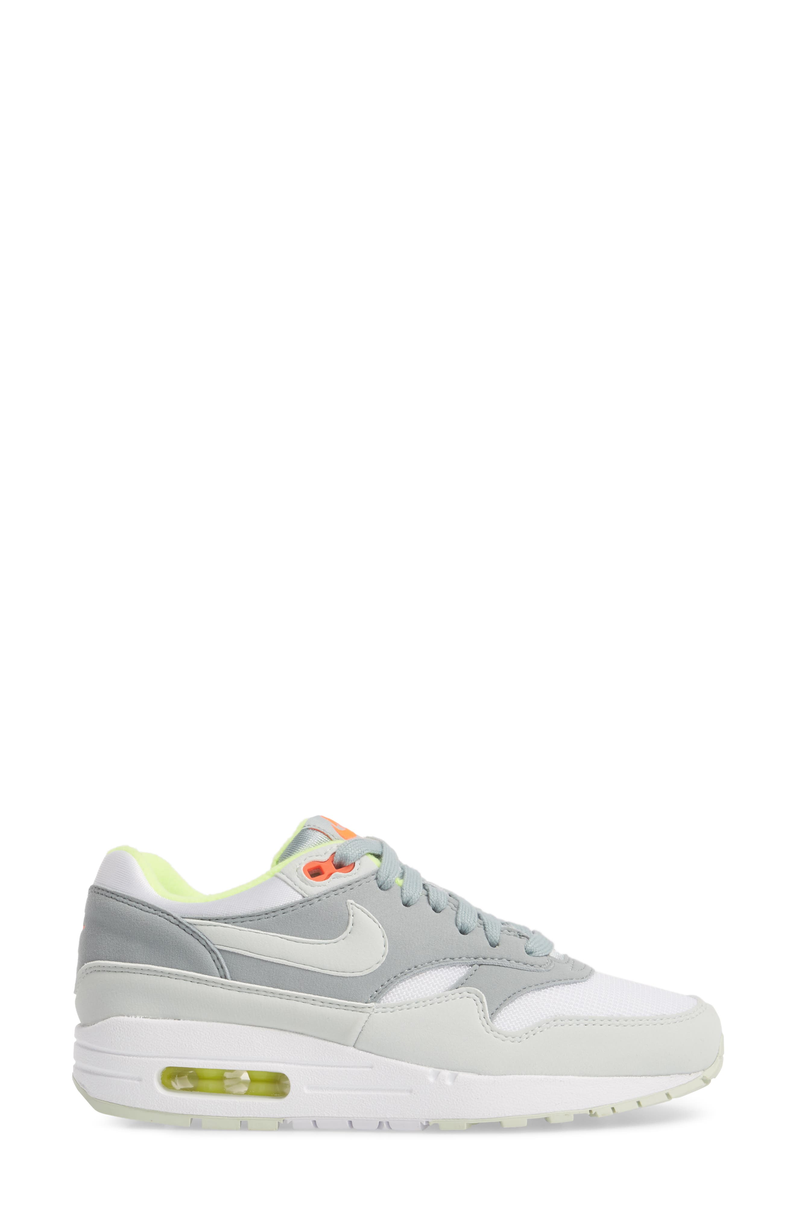 'Air Max 1 ND' Sneaker,                             Alternate thumbnail 3, color,                             WHITE/ BARELY GREY
