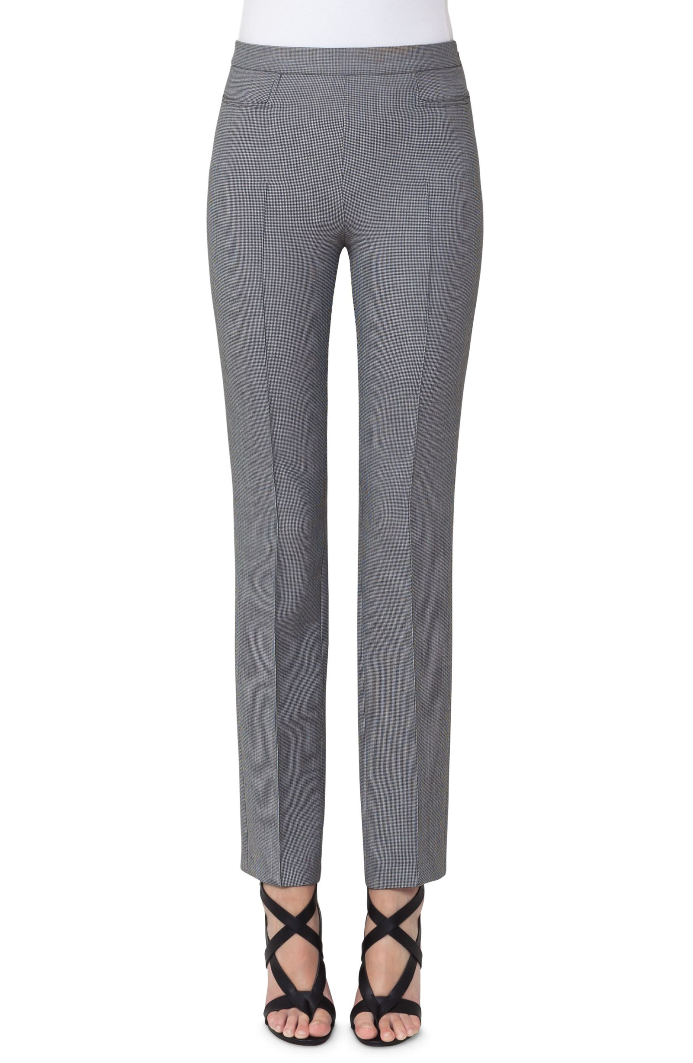 Francoise Mini Houndstooth Jersey Pants,                         Main,                         color, 020