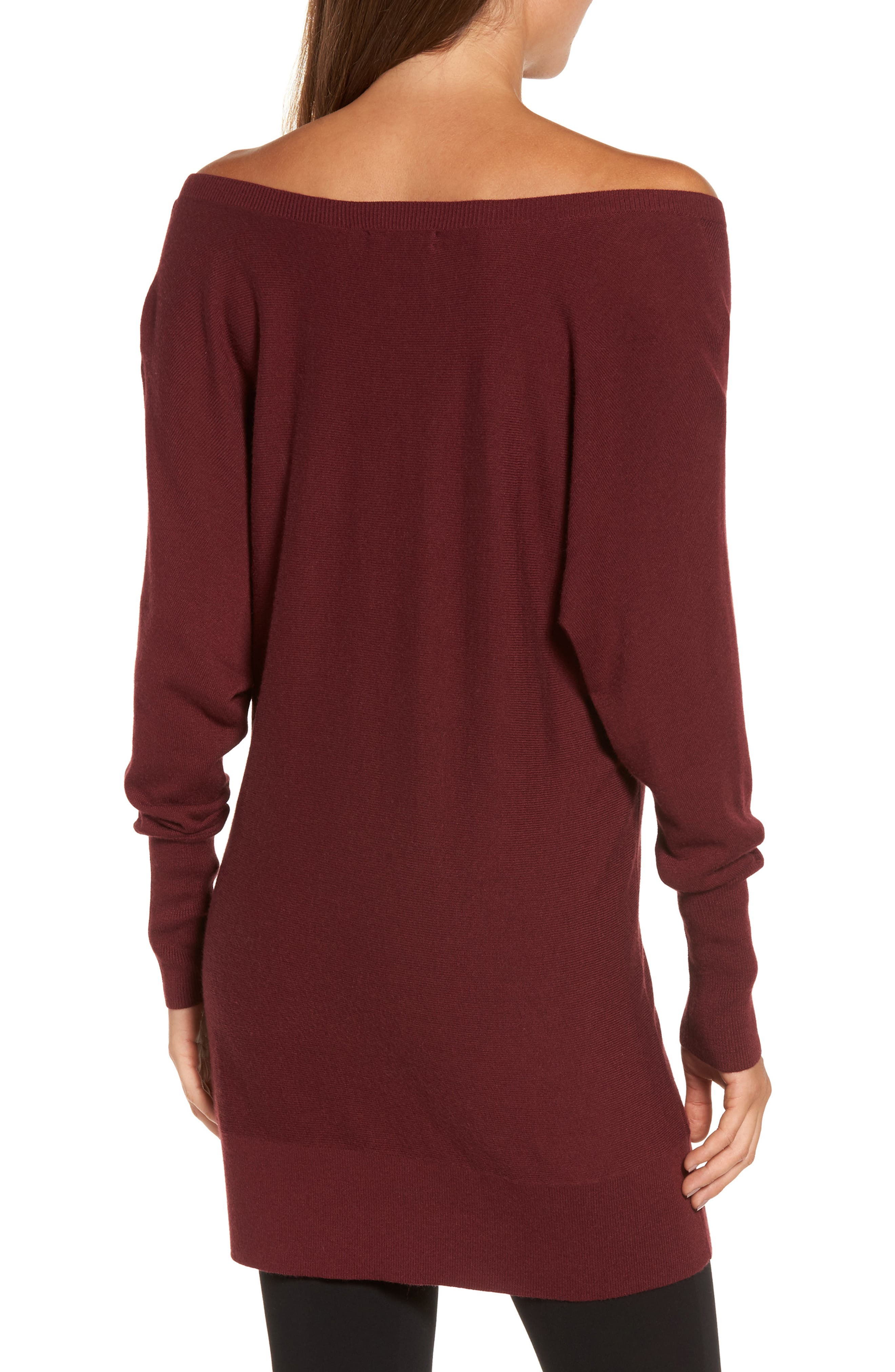 Off the Shoulder Sweater Tunic,                             Alternate thumbnail 12, color,