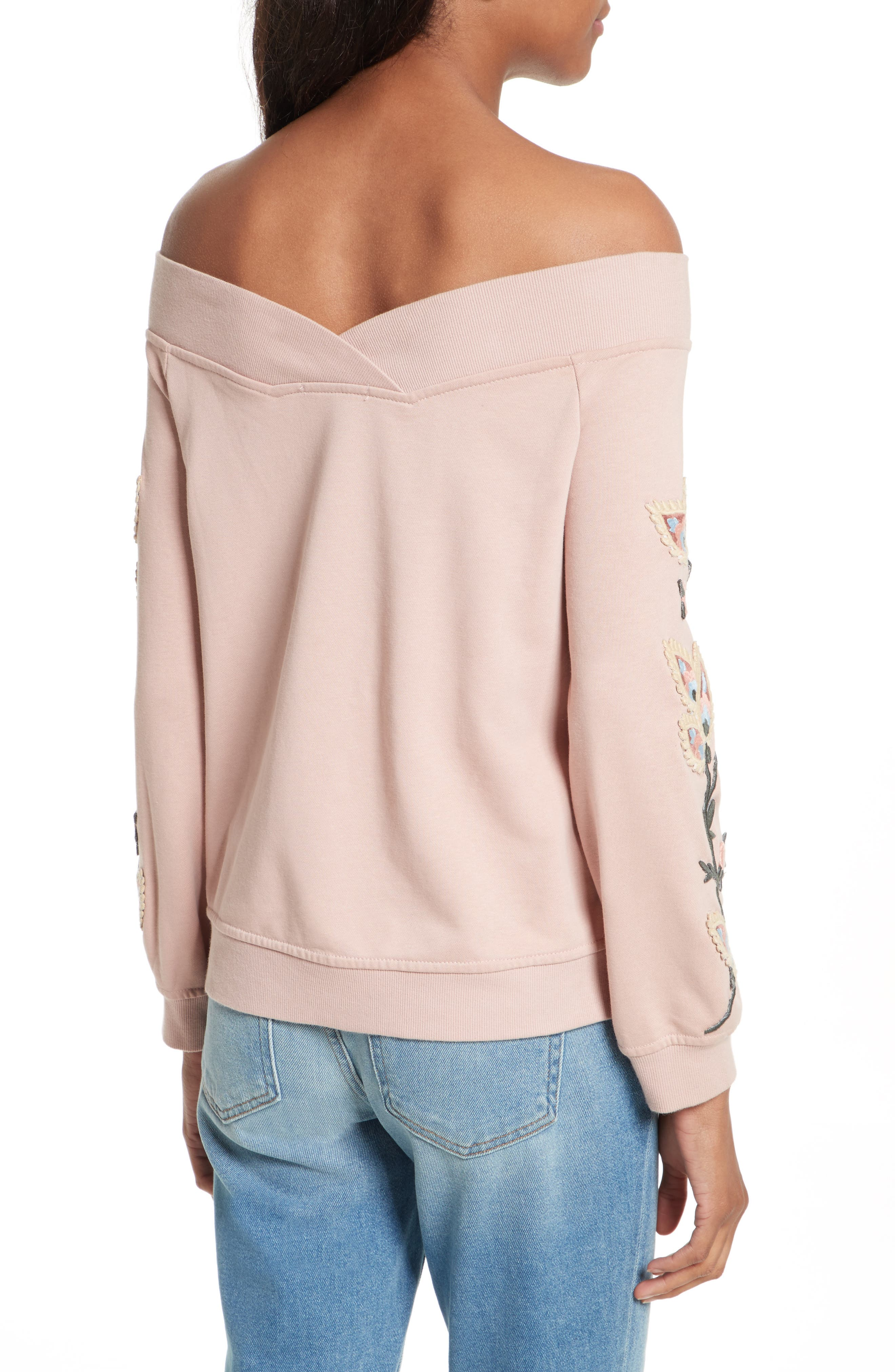 Macey Embroidered Sweatshirt,                             Alternate thumbnail 2, color,                             665