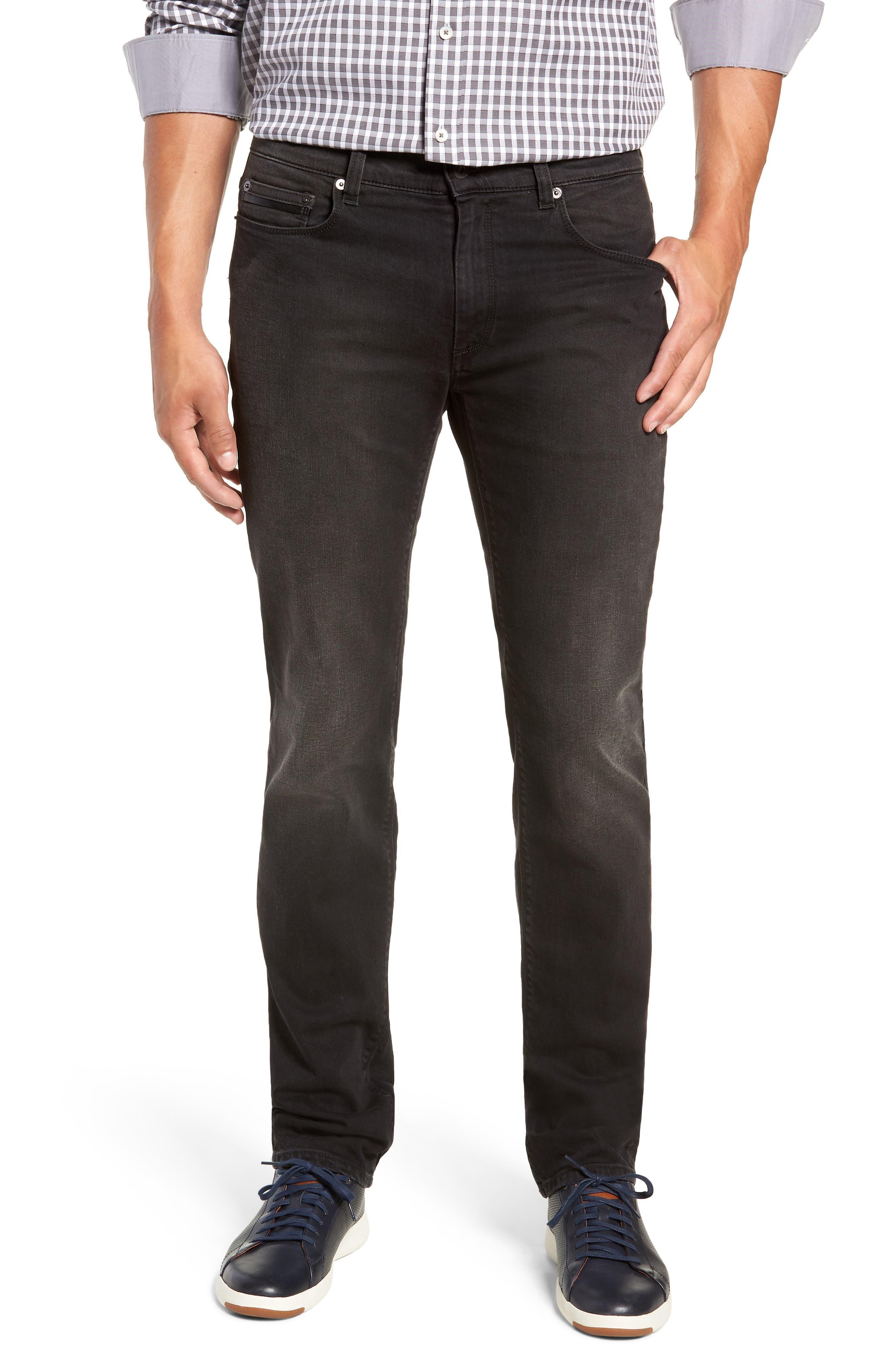 Slim Fit Jeans,                         Main,                         color, BLACK