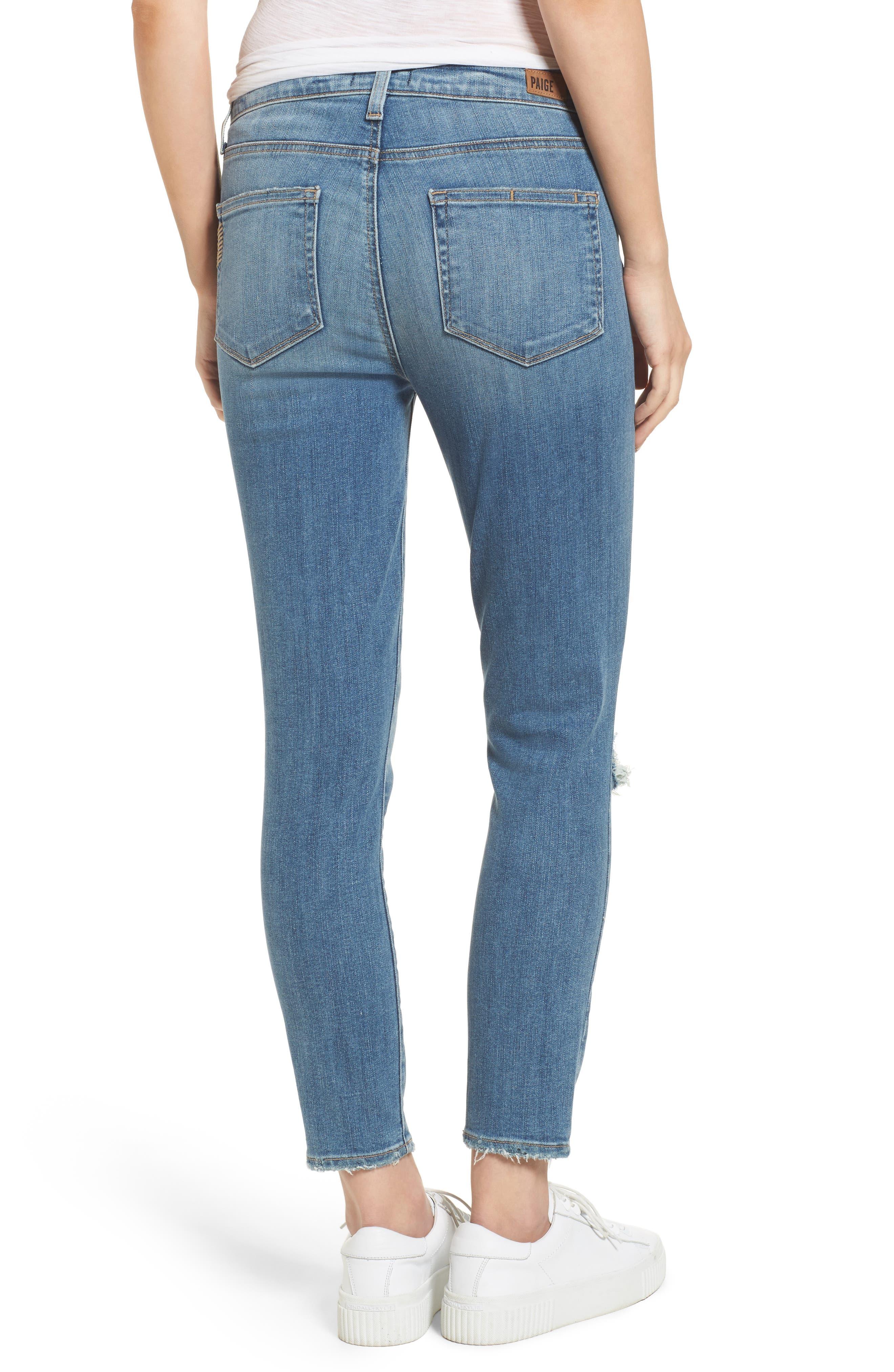 Transcend Vintage - Hoxton High Waist Crop Jeans,                             Alternate thumbnail 3, color,                             400