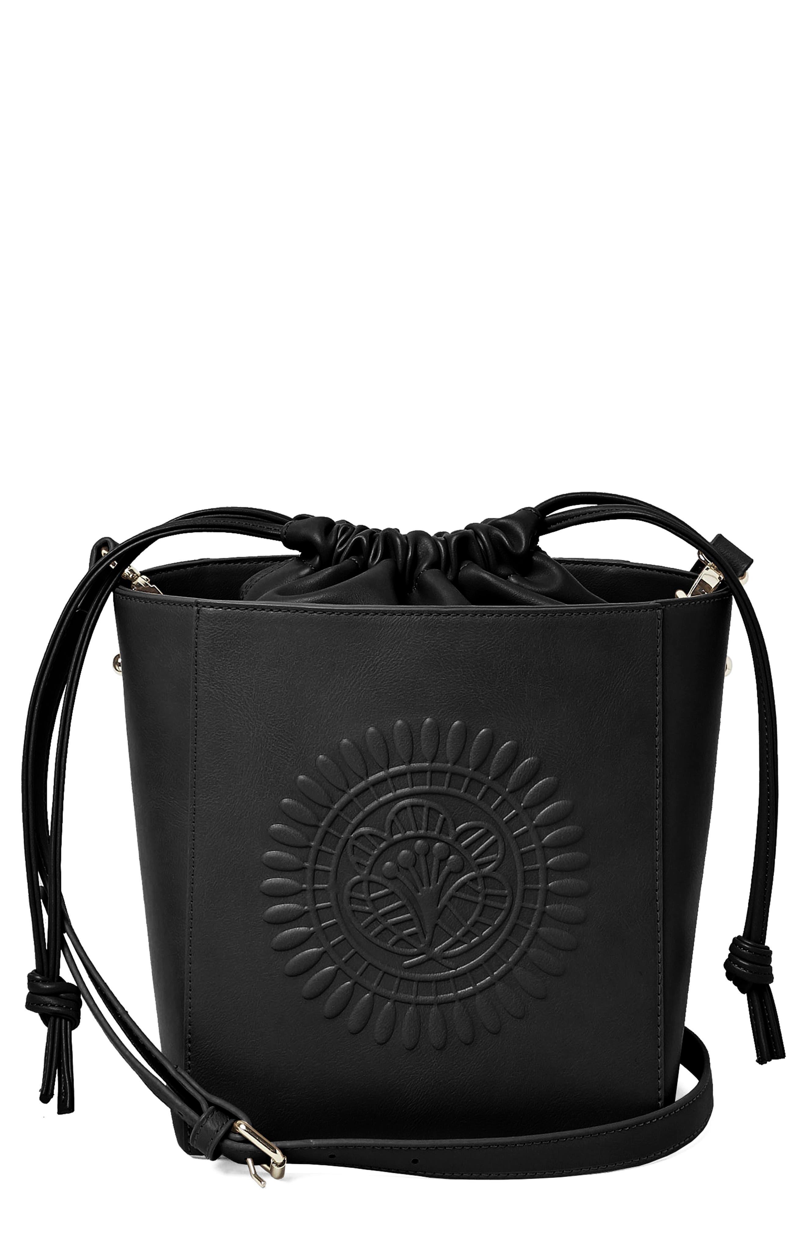 Wanderer Vegan Leather Bucket Bag,                             Main thumbnail 1, color,                             001