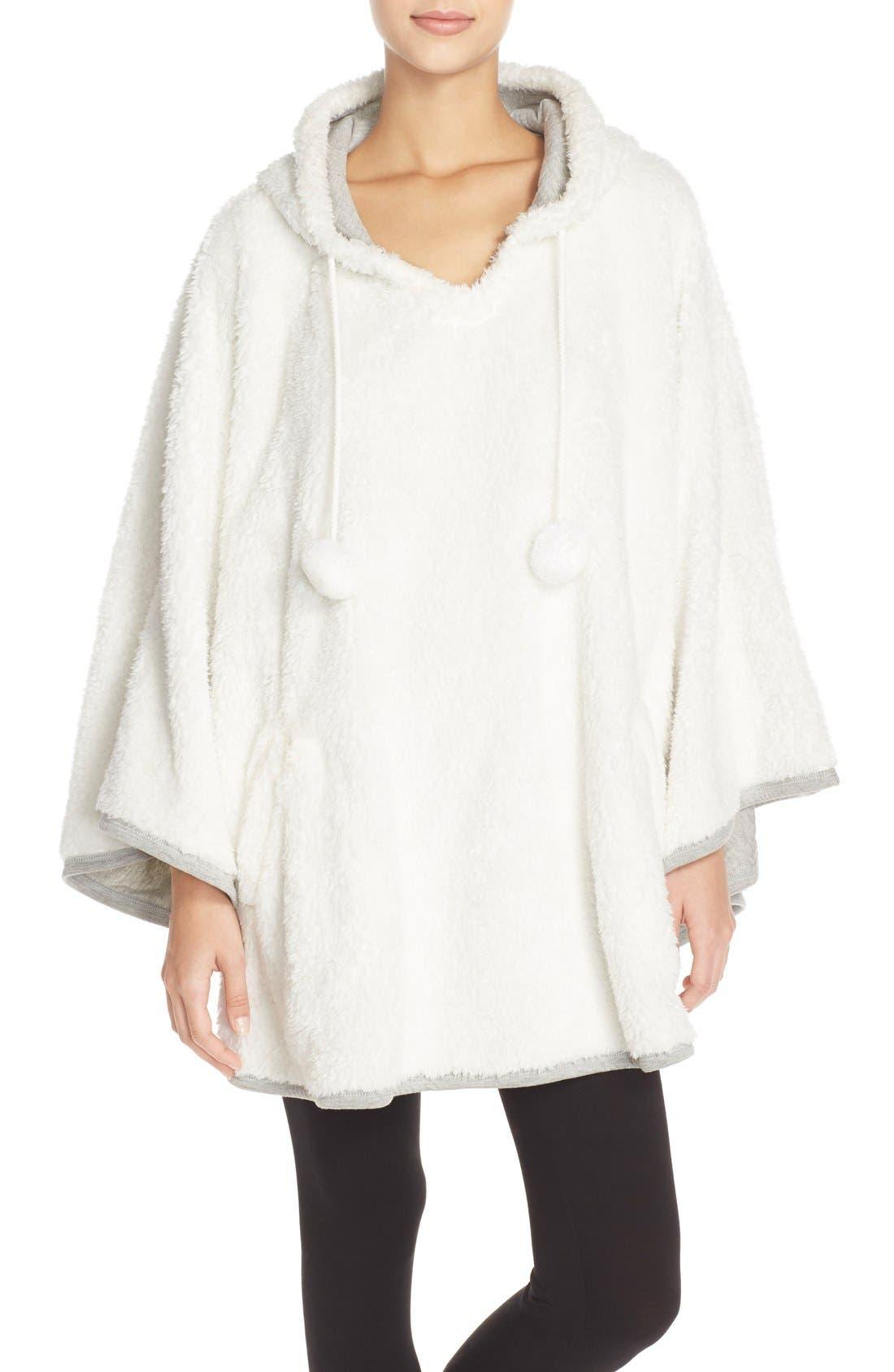 Hooded Fleece Poncho,                             Main thumbnail 1, color,                             020