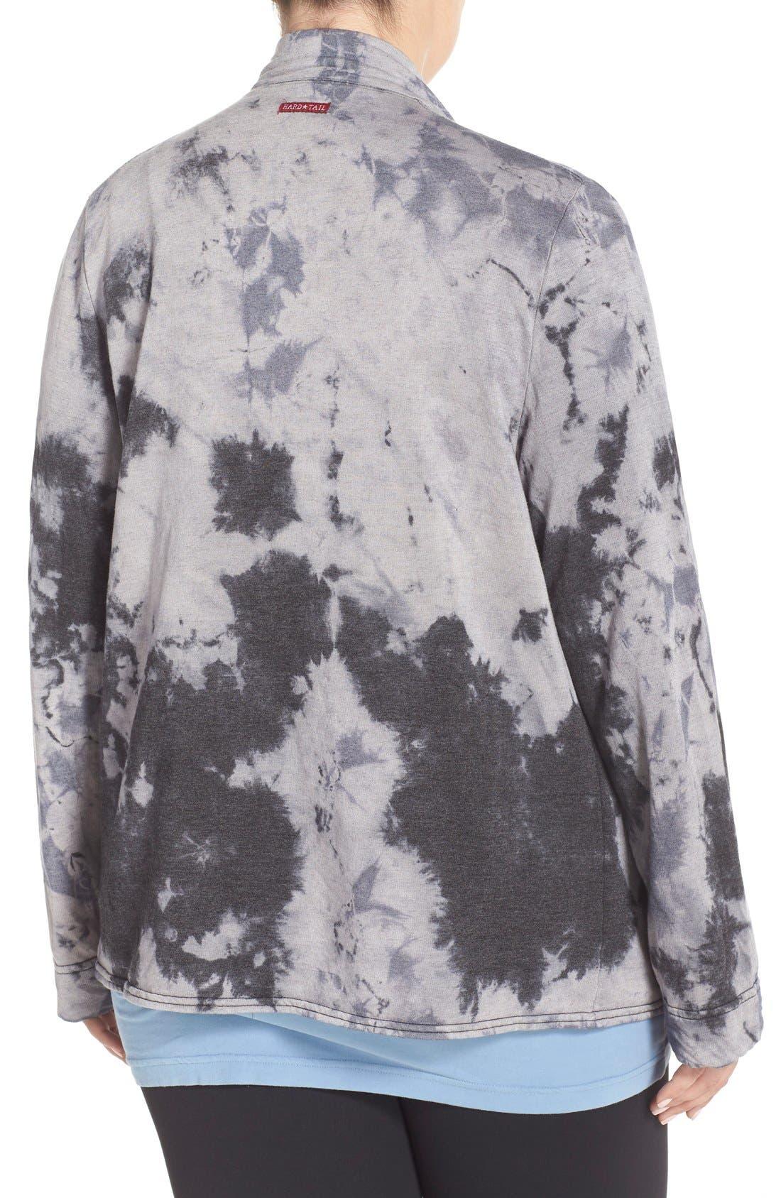 HARD TAIL,                             Fleece Lined Wrap Cardigan,                             Alternate thumbnail 2, color,                             005