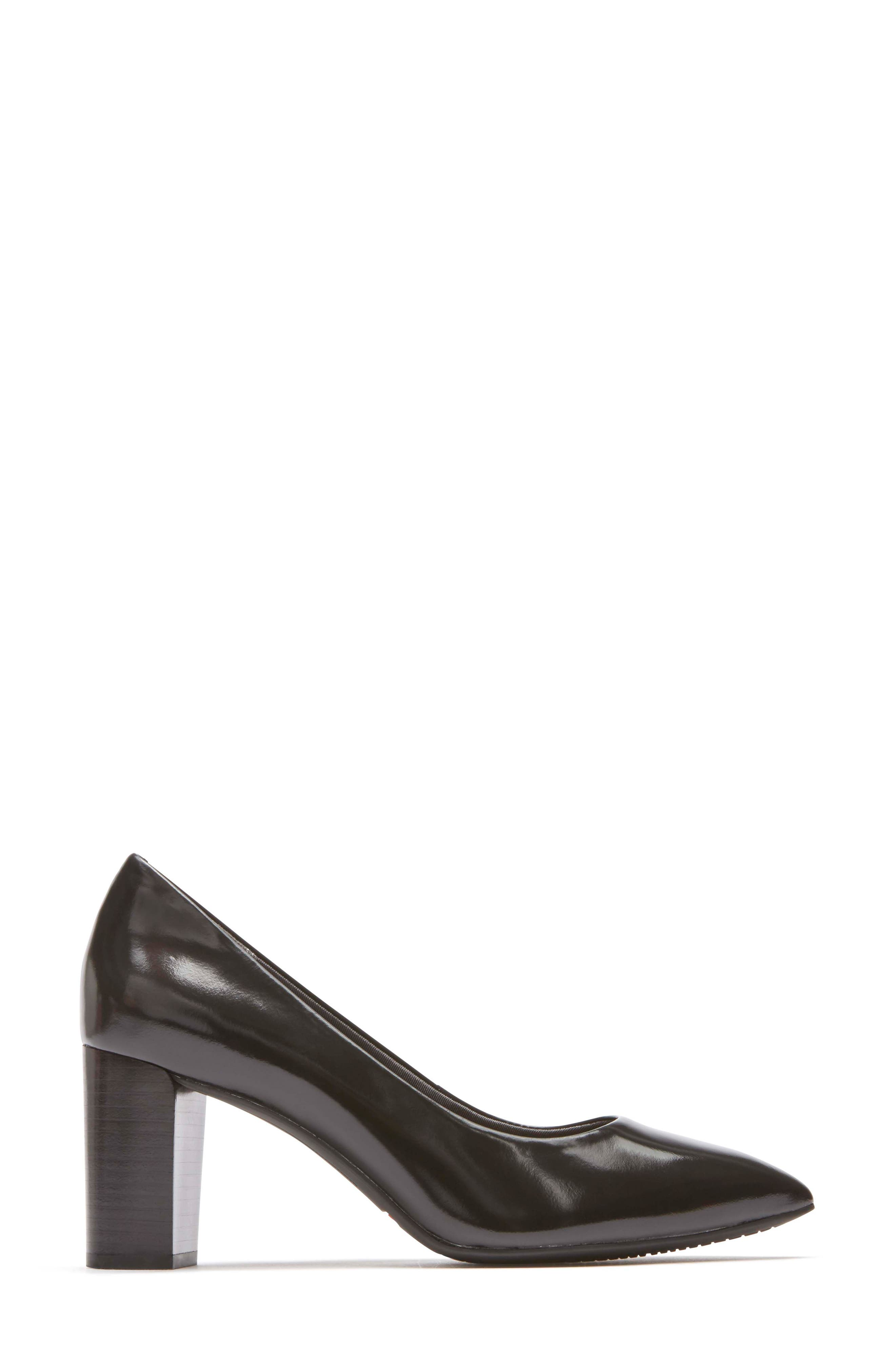 Total Motion Violina Luxe Pointy Toe Pump,                             Alternate thumbnail 3, color,                             BLACK PATENT LEATHER