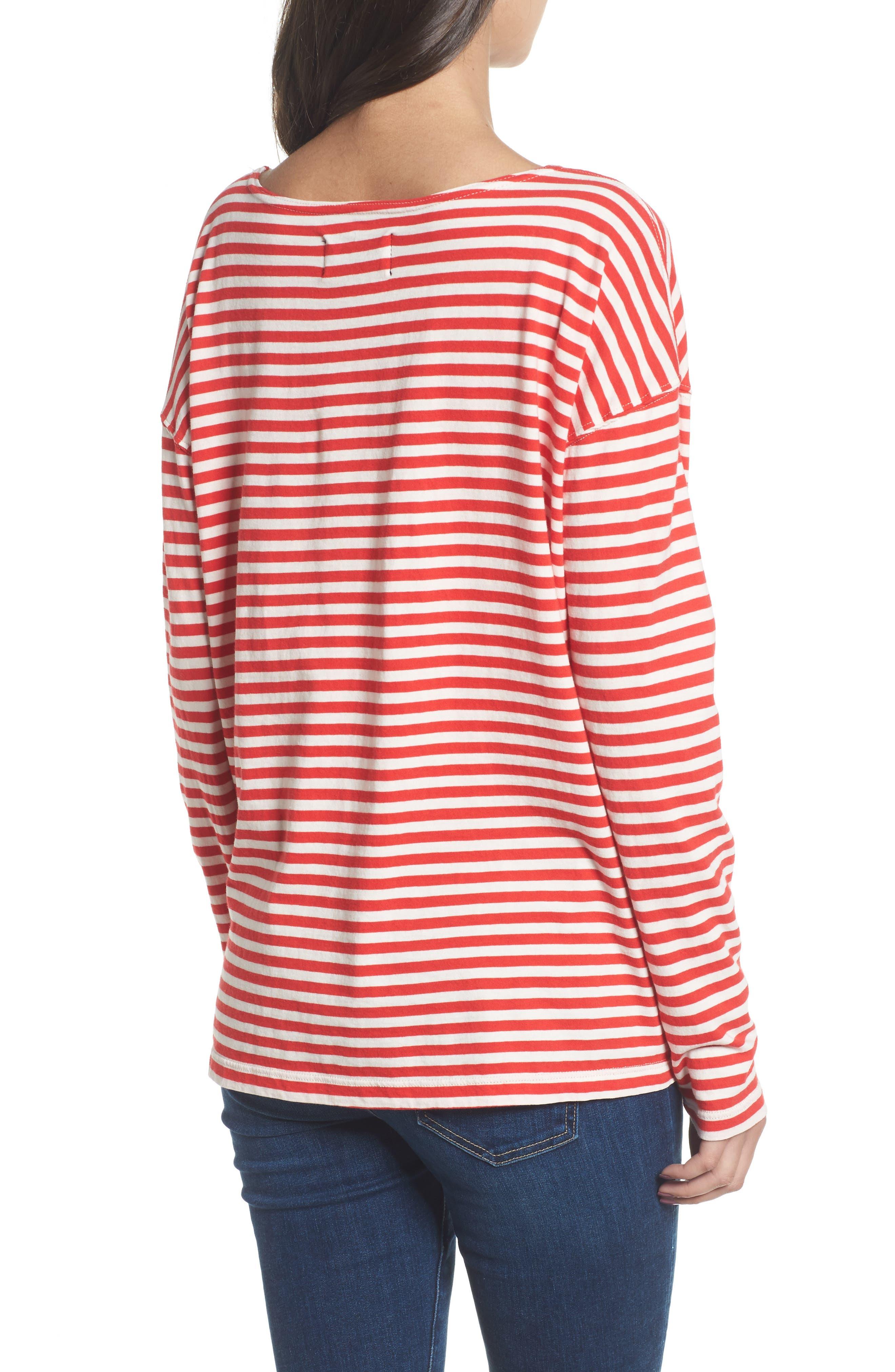 Classic Fit Breton Stripe T-Shirt,                             Alternate thumbnail 2, color,                             611