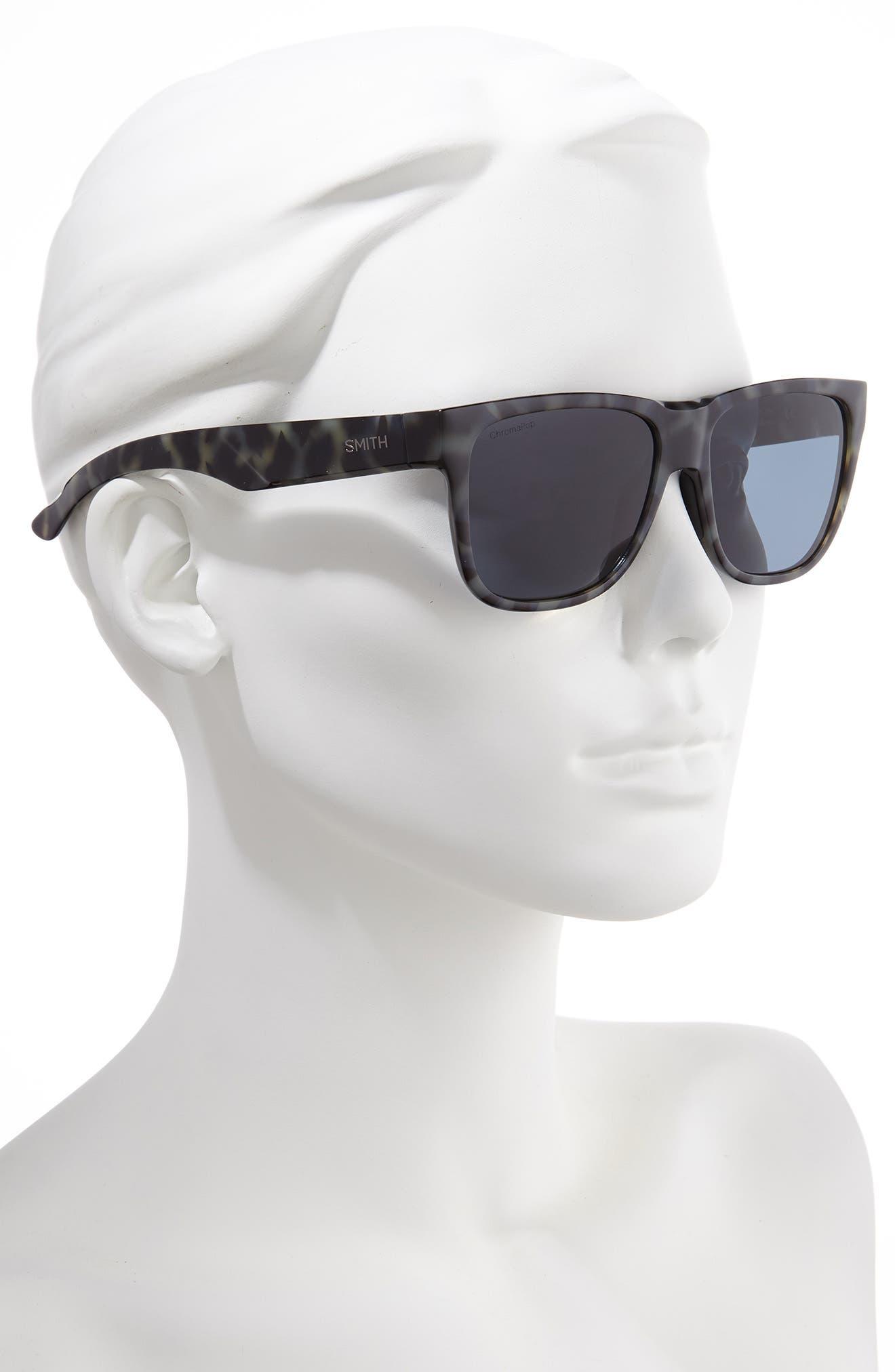 Lowdown 2 55mm ChromaPop<sup>™</sup> Square Sunglasses,                             Alternate thumbnail 2, color,                             CAMO TORTOISE